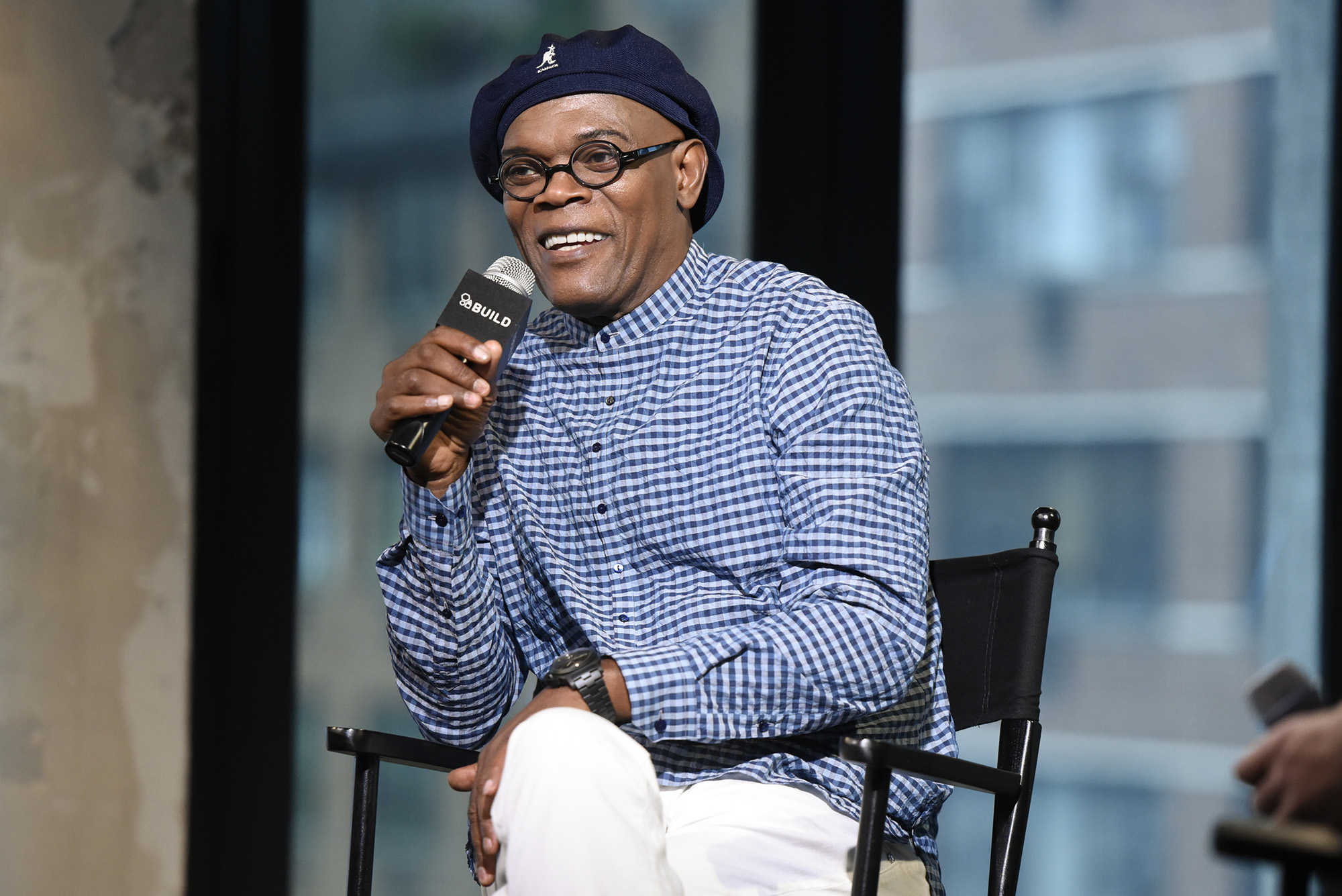 Samuel L. Jackson attends AOL Build Presents - Samuel L. Jackson from the new movie  The Legend Of Tarzan  at AOL Studios in New York on June 29, 2016 in New York City.  (Photo by Matthew Eisman/Getty Images)
