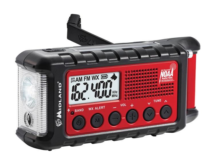 Midland ER310 Emergency Crank Weather Alert Radio