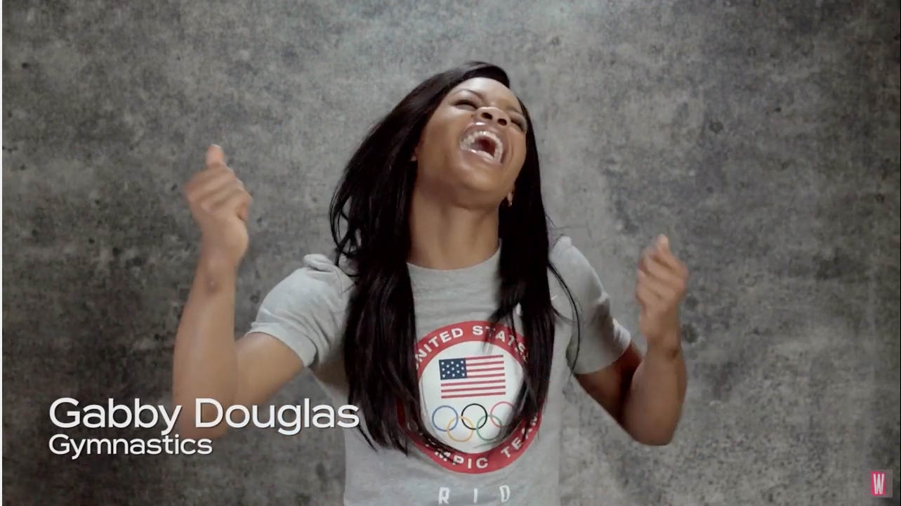 Gabby Douglas sings Queen's 'We Are the Champions'