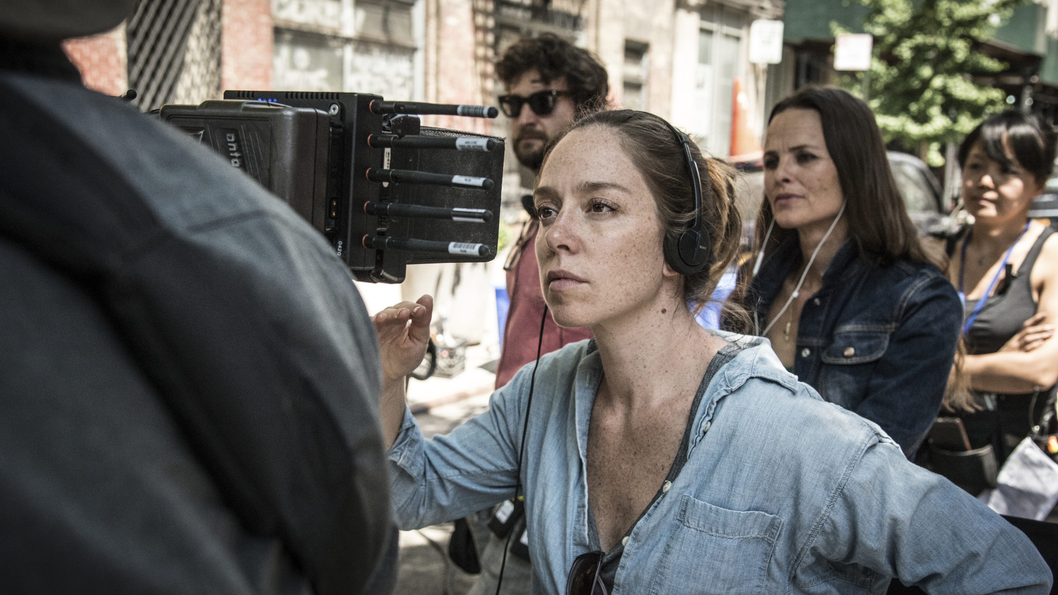 'Tallulah' director Sian Heder on-set of her new film, 'Tallulah.'