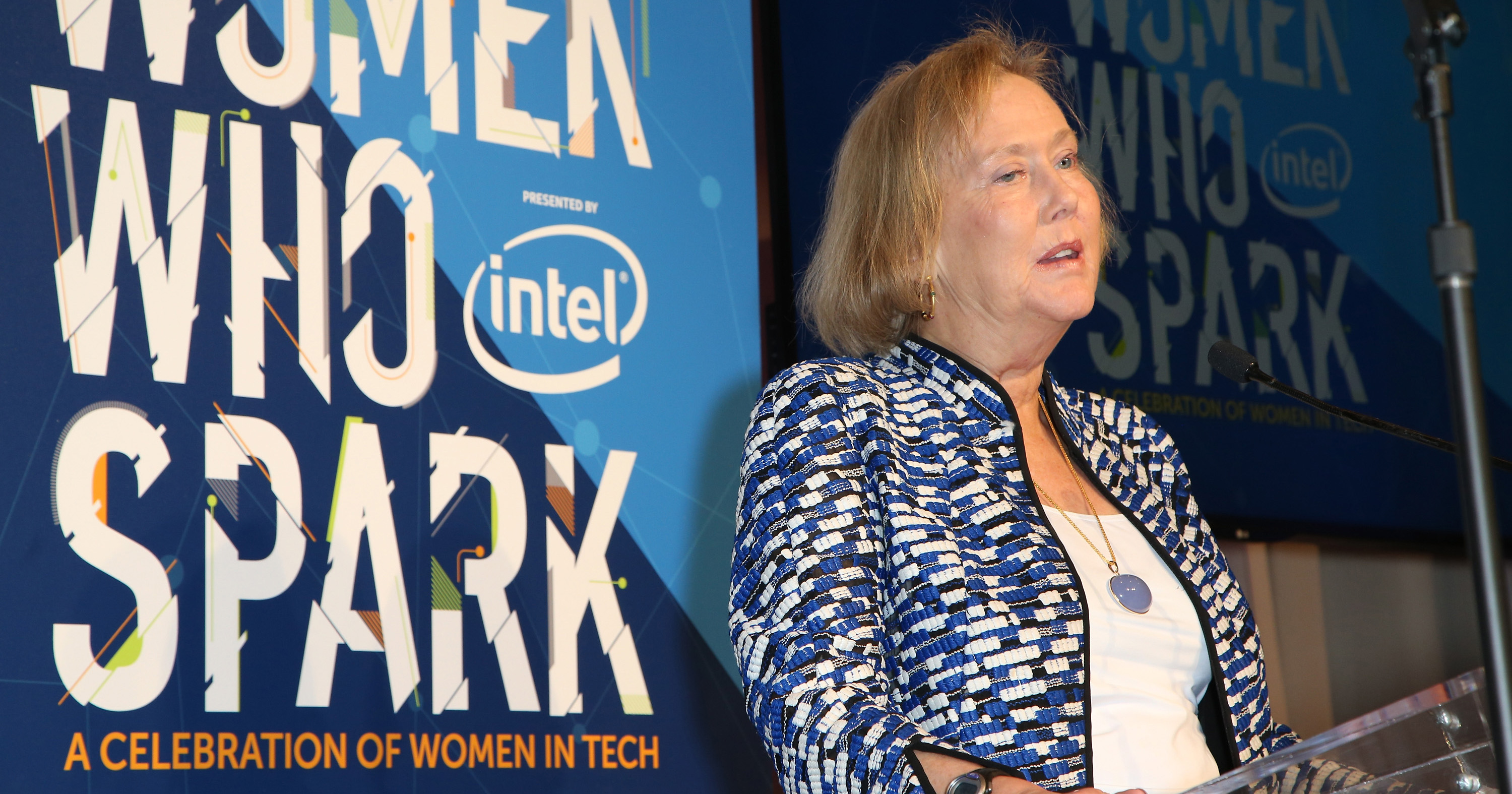 Honoree Dr. Telle Whitney speaks during the Women Who Spark Awards presented by Intel on Jan. 7, 2016 in Las Vegas.