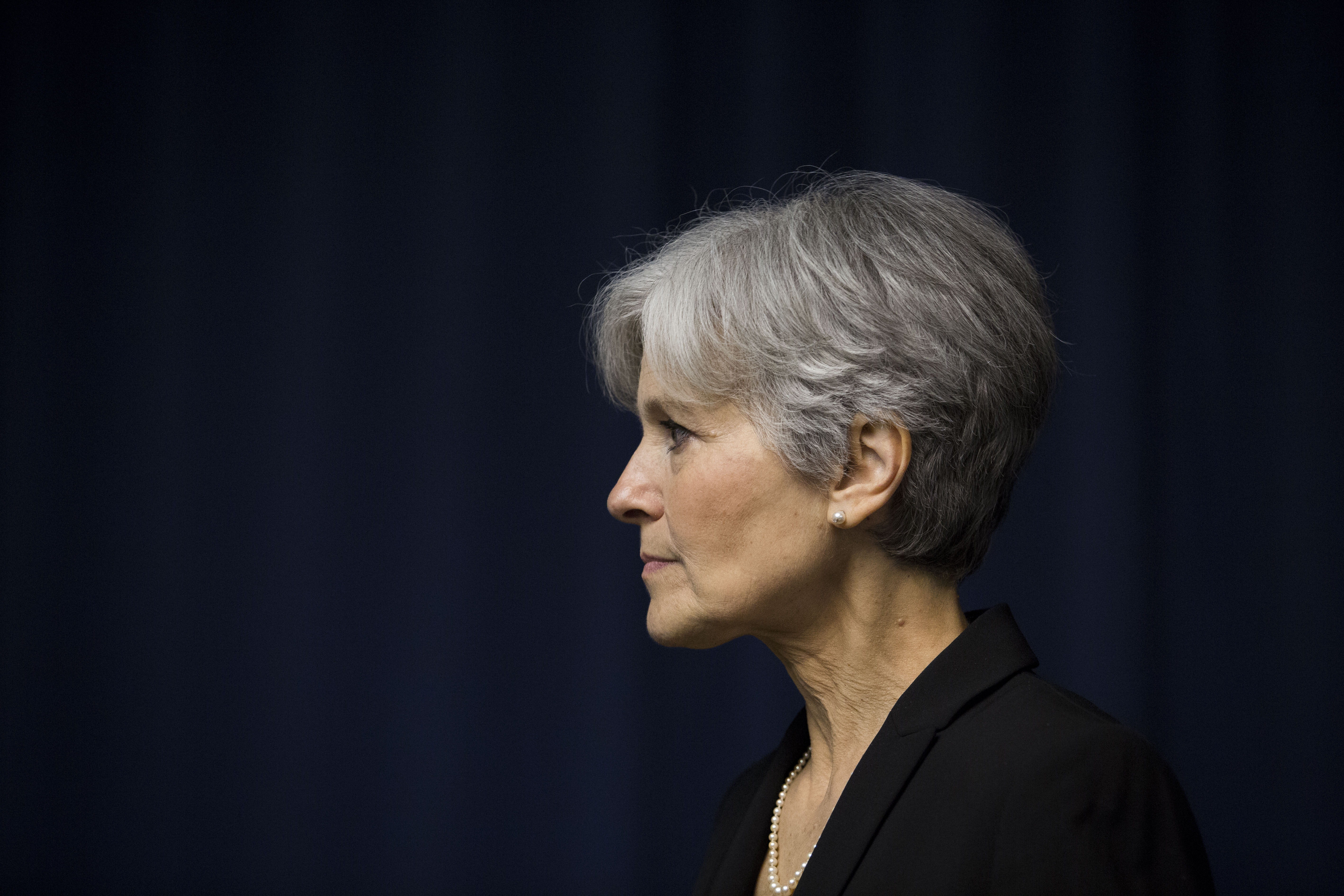 Jill Stein announcing she will seek the Green Party's presidential nomination on June 23, 2015. She is now the party's selection.