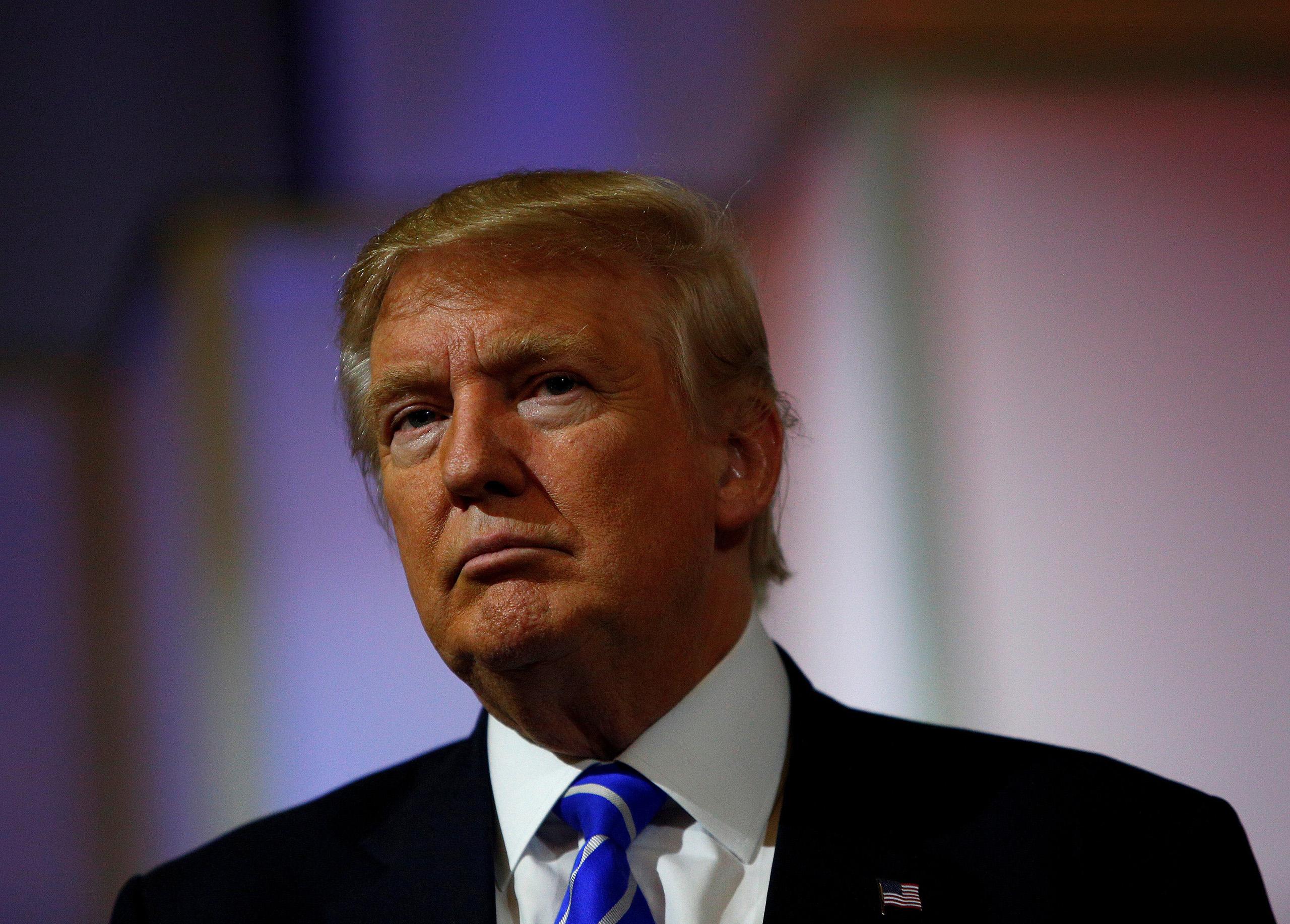 Donald Trump attends a campaign rally in Abingdon, Virginia, Aug. 10, 2016.