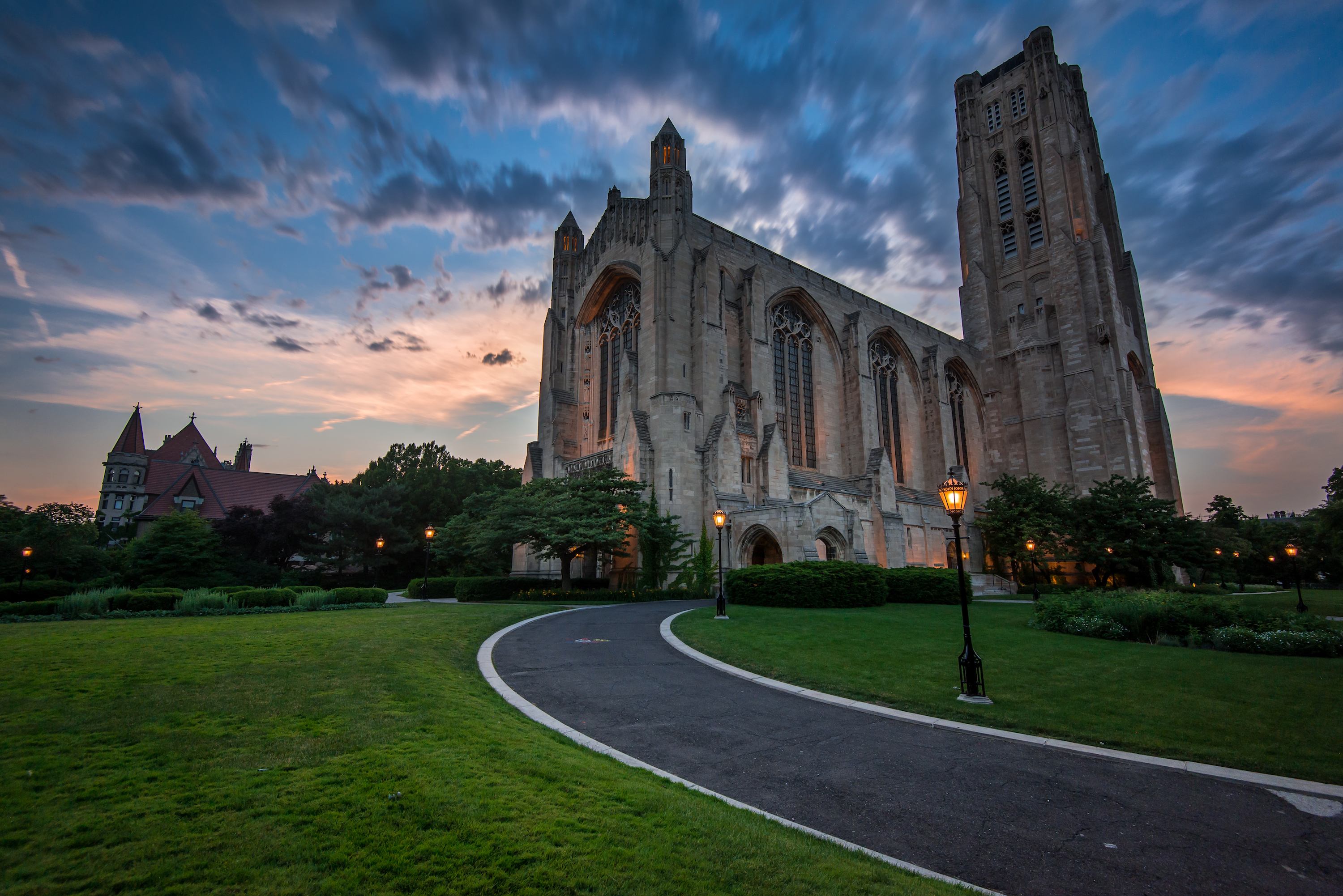 Rockefeller Chapel, on the University of Chicago campus.