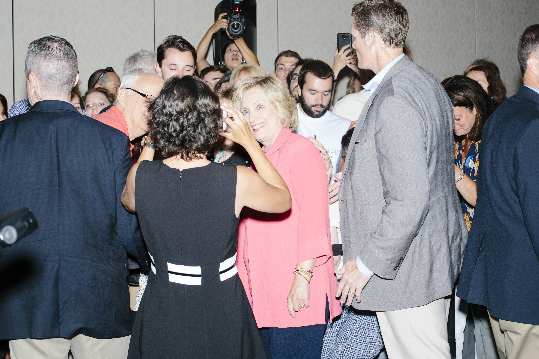Clinton, Manchester, New Hampshire, Sept. 5, 2015.
