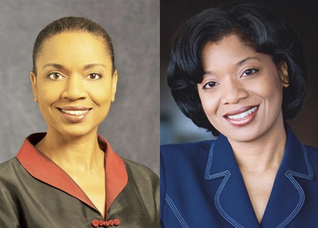 Carole J Woolford-Hunt, left, and Dr Susan J. Woolford