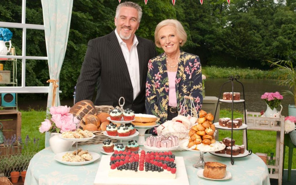 Paul Hollywood, left, and Mary Berry in the BBC's Great British Bake Off.
