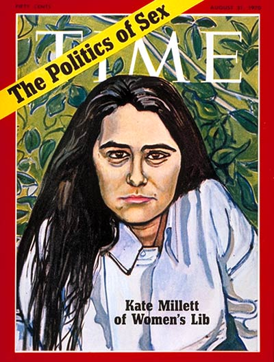 TIME's August 31, 1970, cover story discussed the progress of women's liberationists and featured Kate Millett, author of the landmark feminist text Sexual Politics, on the cover.