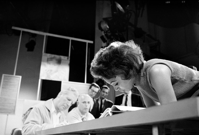 Joan Elizabeth Murray at work on the television show Candid Camera.