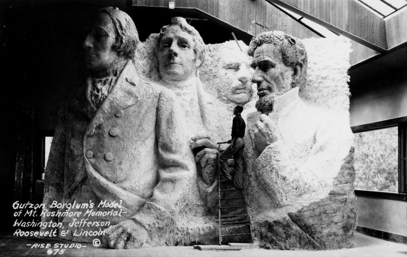 Mount Rushmore In Miniature circa 1925