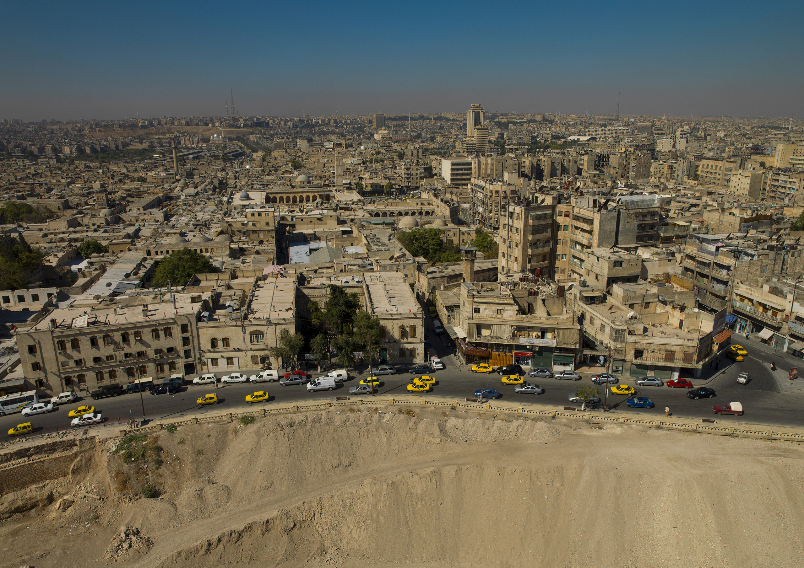 A sweeping view of Aleppo, Syria, on Oct. 5, 2006. Aleppo was famous for its architecture, attractive churches, mosques, schools and baths, and became an important center of trade between the eastern Mediterranean kingdoms and the merchants of Venice.