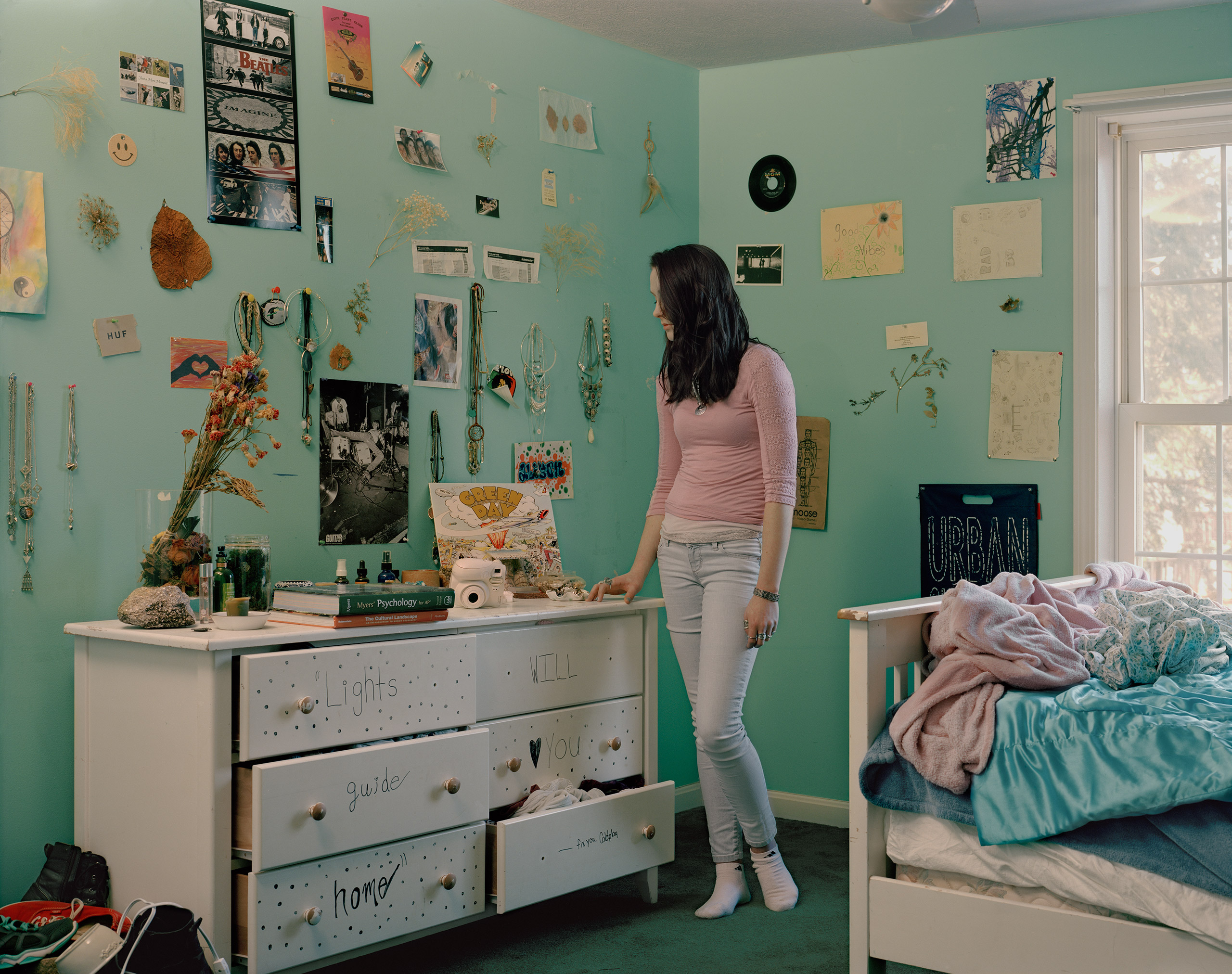 Alison Heyland, 18, shown at her home in Maine, was part of a group that makes films to raise awareness about depression, anxiety and self-harm.                               From                                 Behind TIME's Teen Anxiety Cover With Lise Sarfati