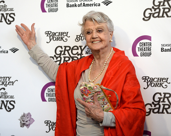 Actress Angela Lansbury arrives at the opening night of 'Grey Gardens' The Musical at the Ahmanson Theatre on July 13, 2016 in Los Angeles, California.