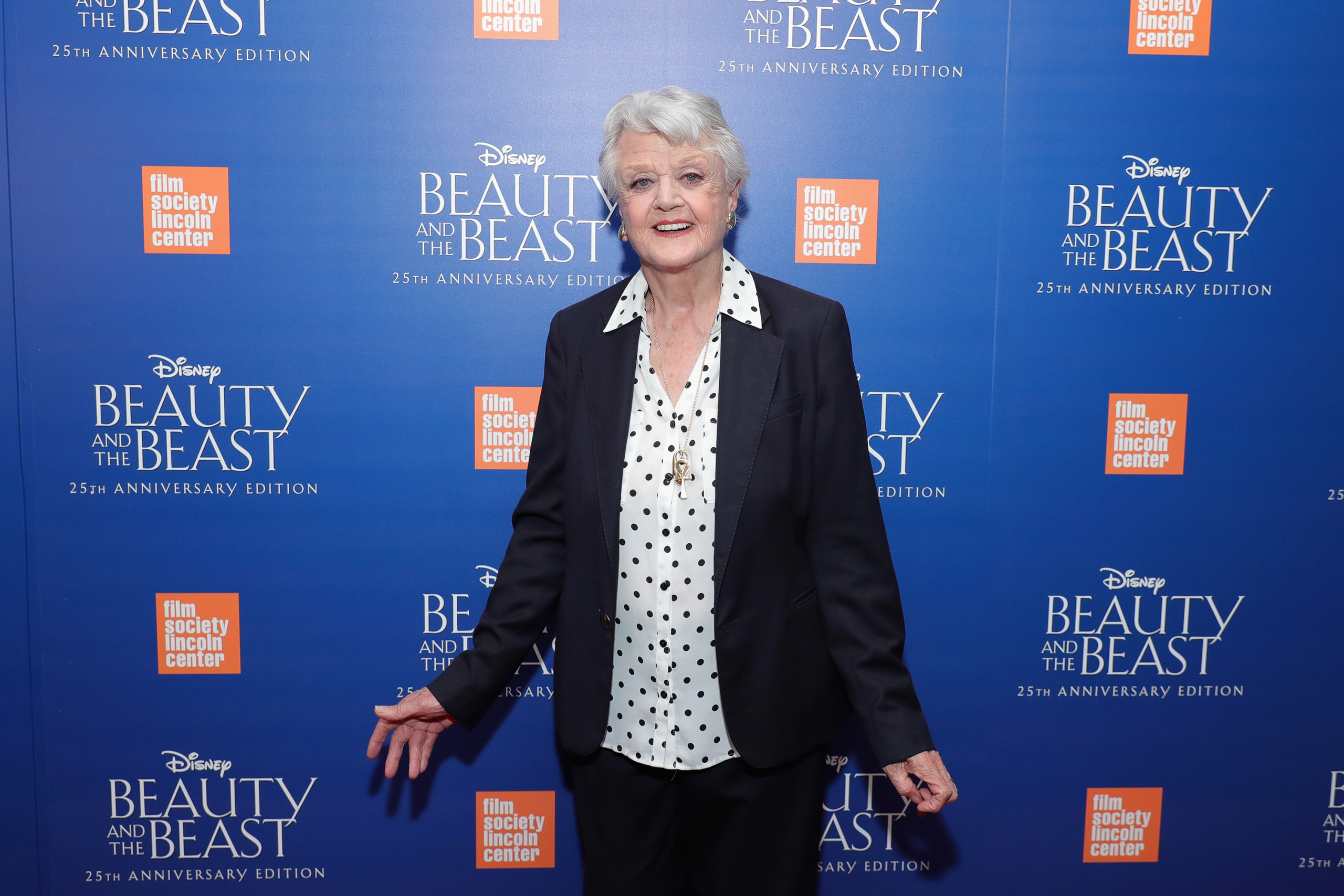 Angela Lansbury attends the special screening of Disney's  Beauty and the Beast  to celebrate the 25th Anniversary Edition release in New York City on Sept. 18, 2016.