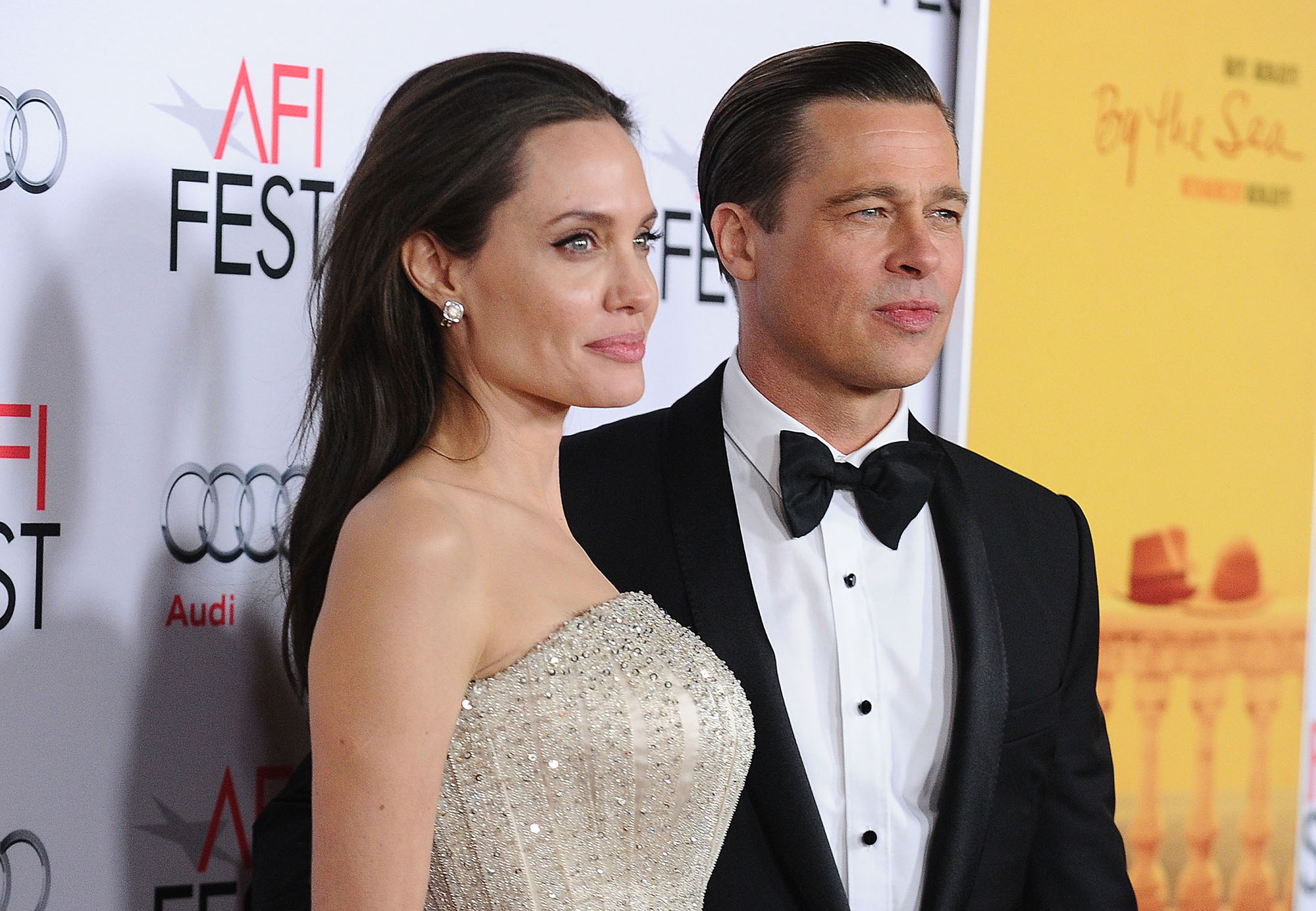 Angelina Jolie and Brad Pitt attend the premiere of  By the Sea  at the 2015 AFI Fest at TCL Chinese 6 Theatres on November 5, 2015 in Hollywood, California.  (Photo by Jason LaVeris/FilmMagic)
