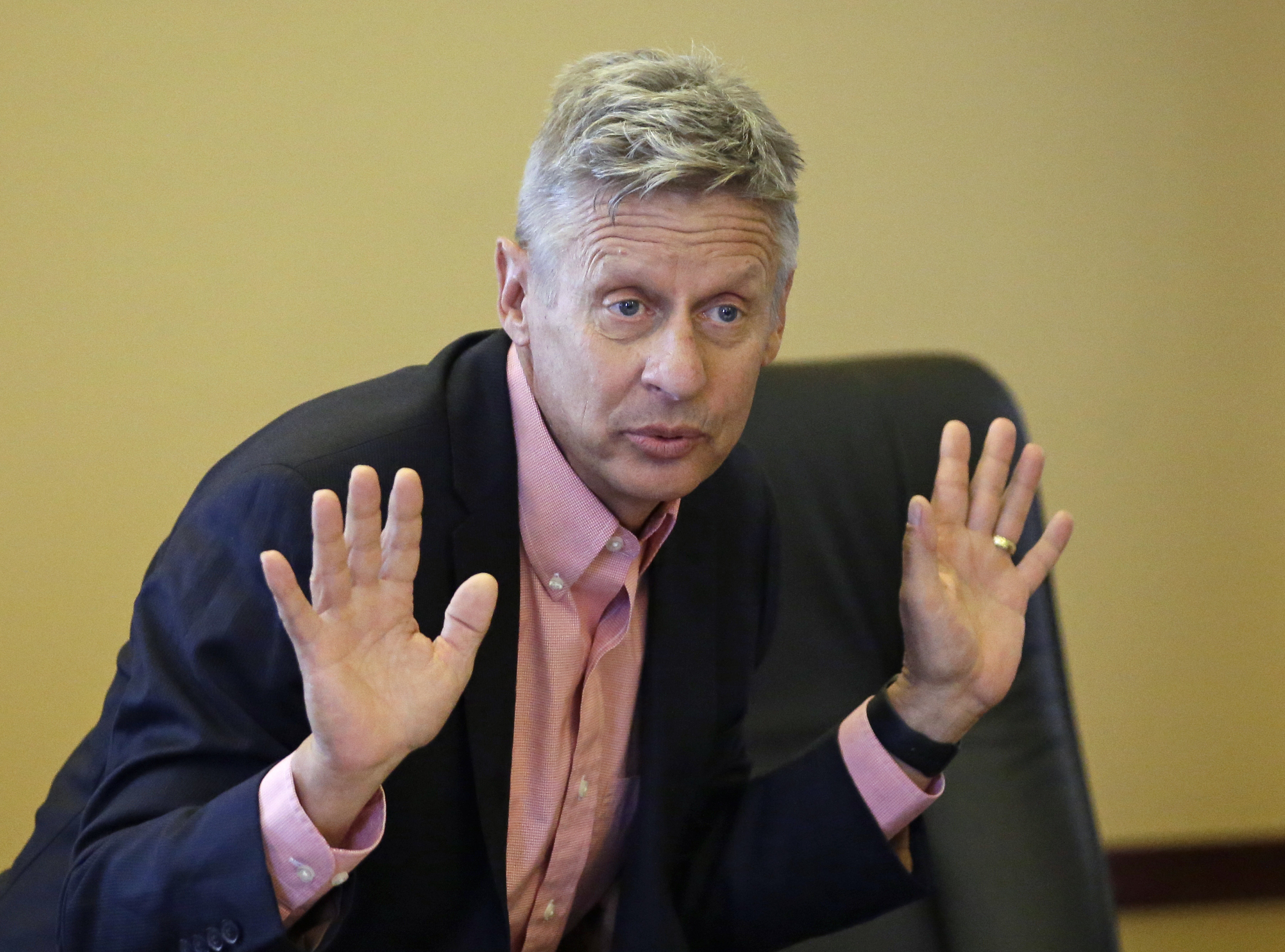 Libertarian presidential candidate Gary Johnson has become the target of a brutal Jimmy Kimmel sketch (stock photo)