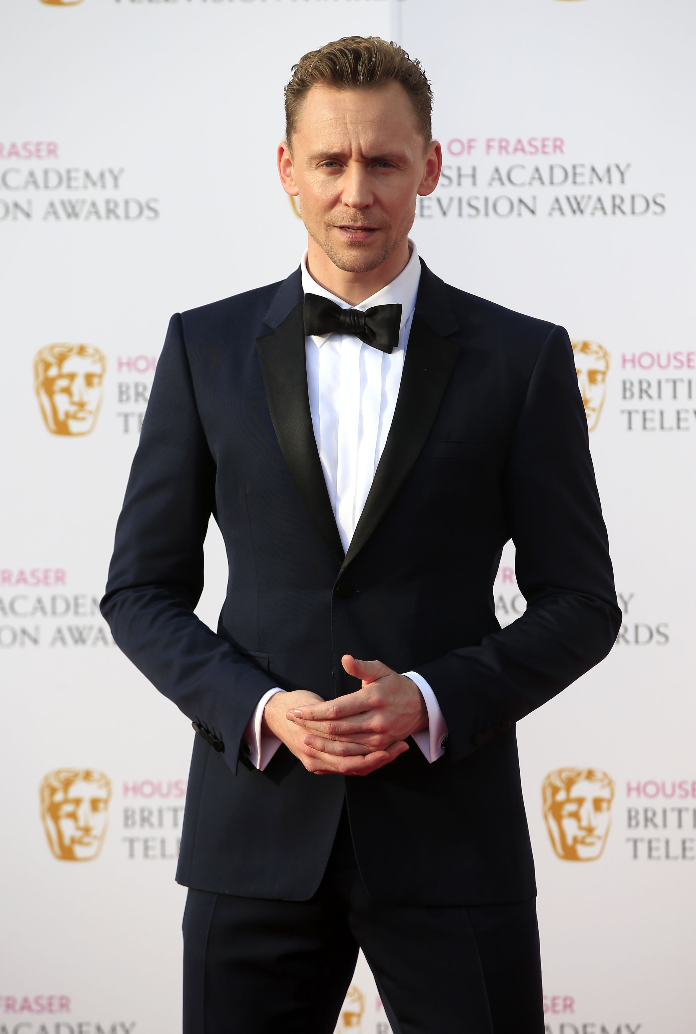 Tom Hiddleston's acceptance speech for his Best Actor gong in the TV Choice Awards was hijacked by his Thor co-stars Chris Hemsworth and Idris Elba (file photo)