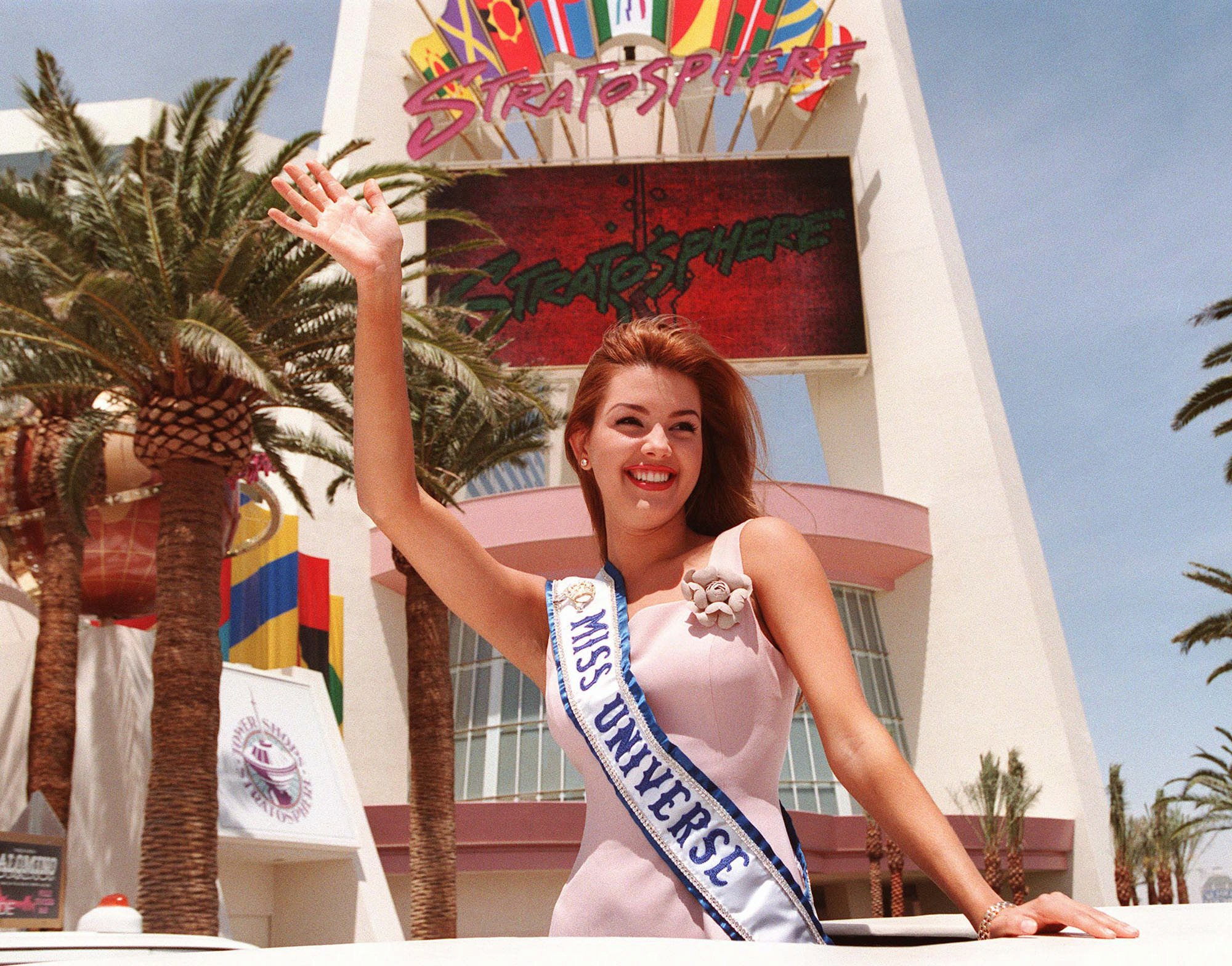 Miss Universe 1996: Alicia Machado of Venezuela, Miss Universe 1996, in Las Vegas, May 18, 1996