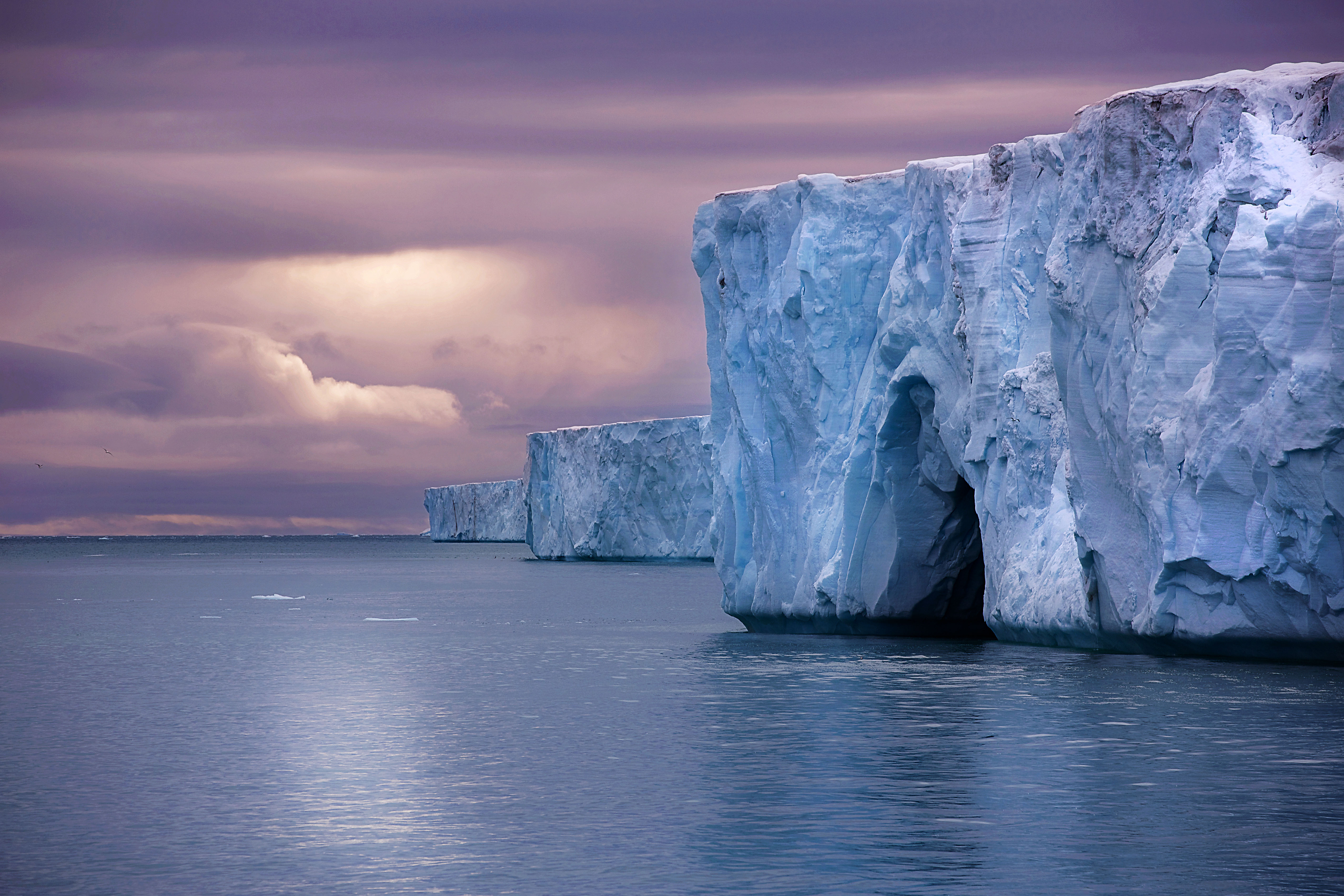 One of Europe's largest pieces of ice, the Austfonna Ice Cap stretches for miles along Nordaustlandet in the Svalbard Archipelago.