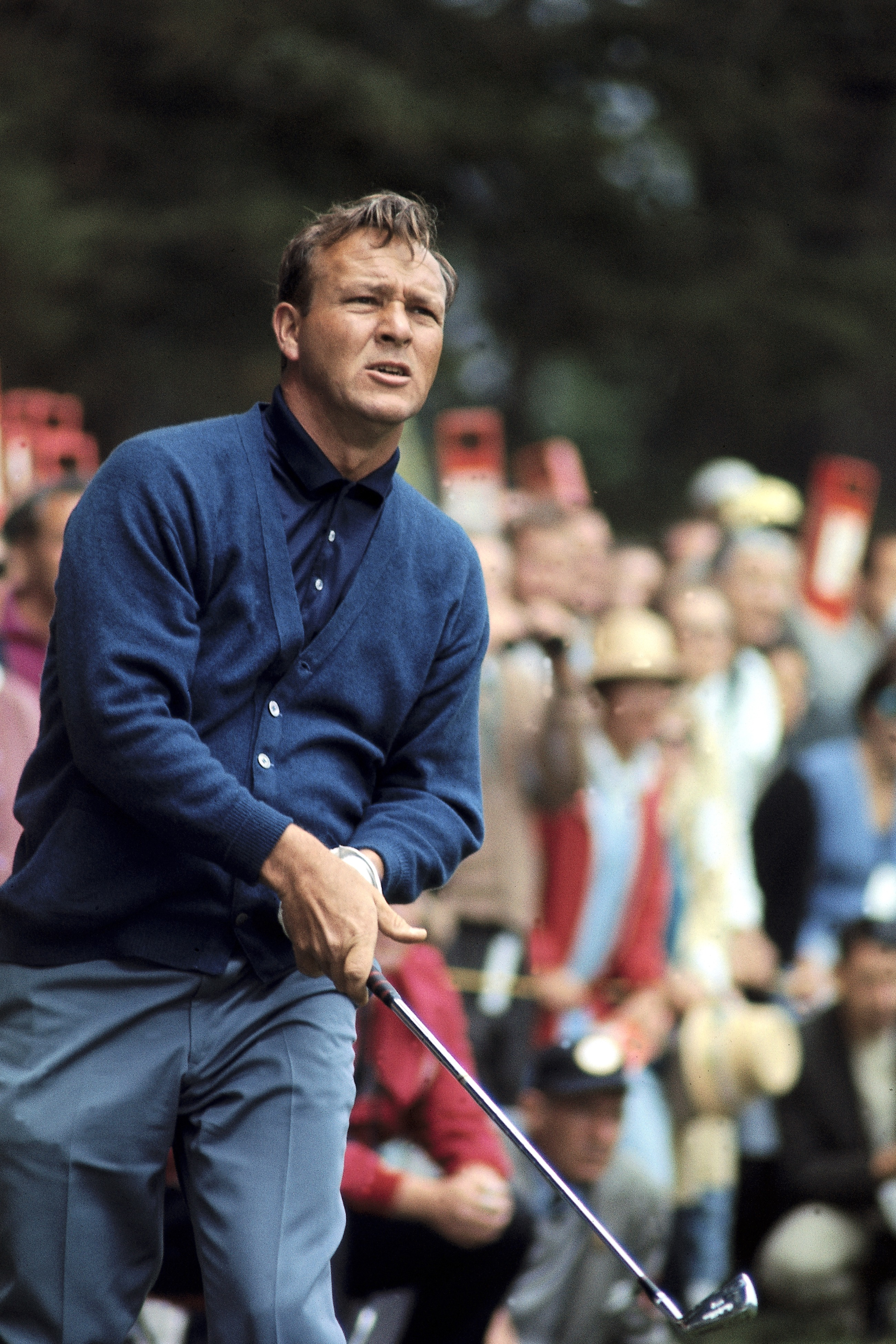 Arnold Palmer in action in 1966 at Lake Course of The Olympic Club in                                San Francisco.