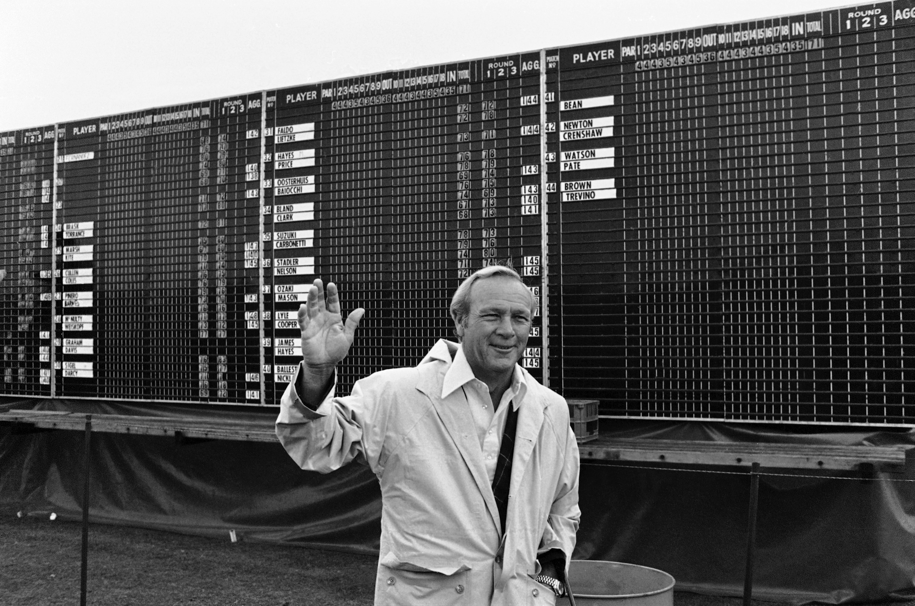 Arnold Palmer announced his retirement from playing the Open Golf Championship on the penultimate day of the championship at Muirfield, Scotland, July 19, 1980.