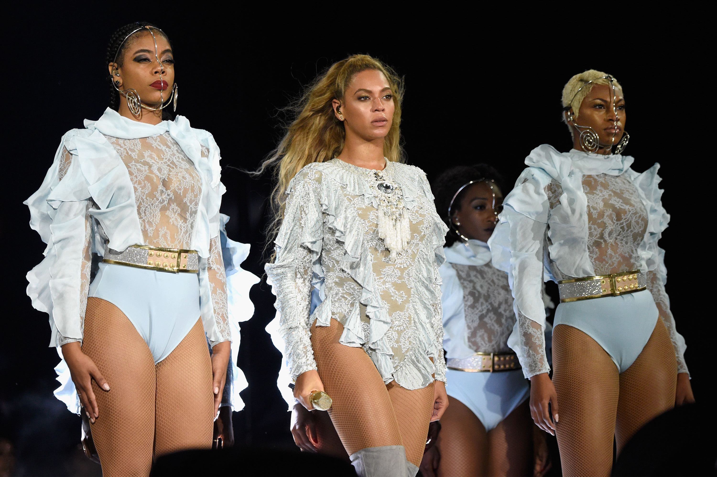 Beyonce performs on stage during  The Formation World Tour  at Levi's Stadium on September 17, 2016 in Santa Clara, California.