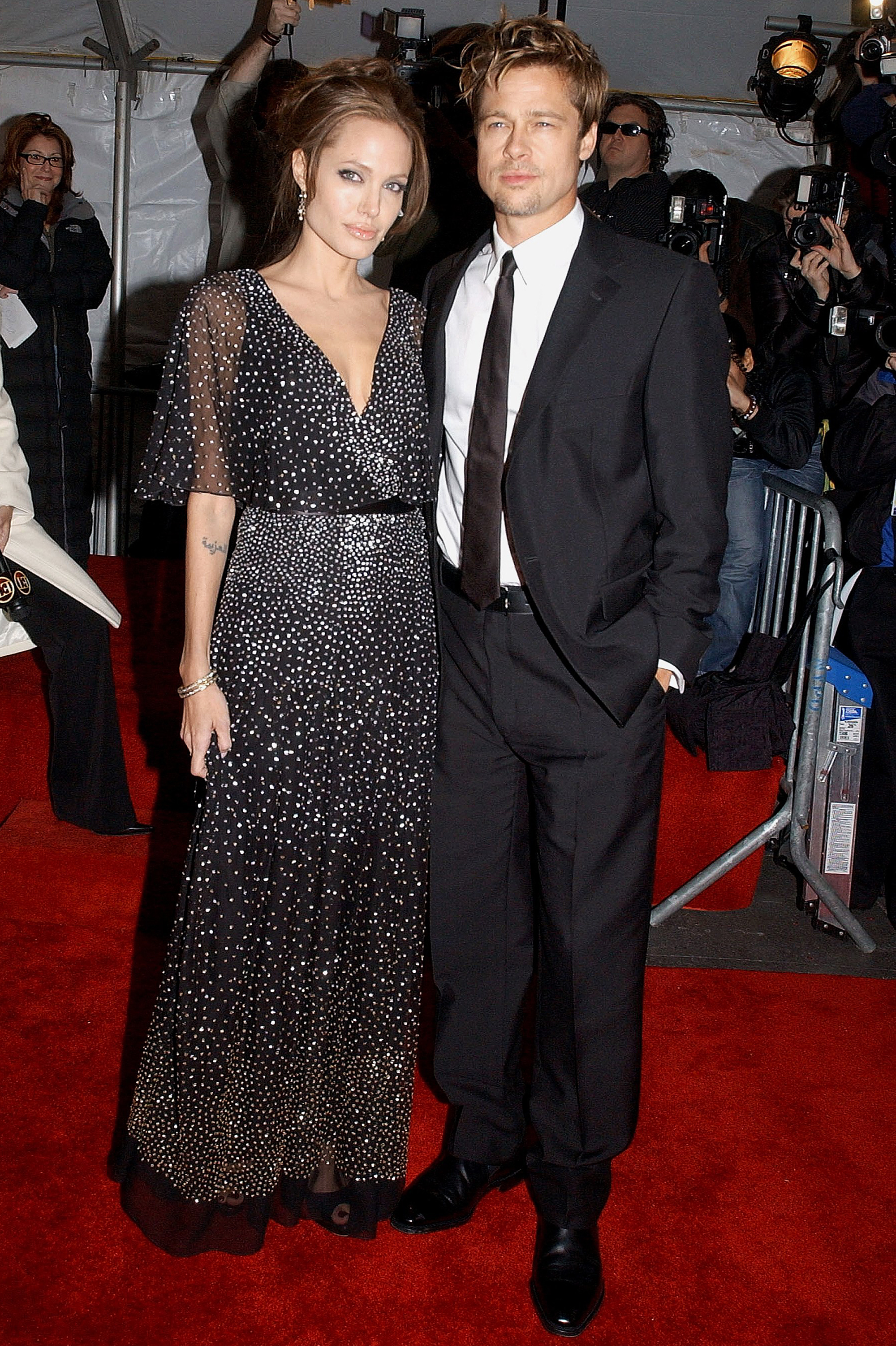 Angelina Jolie and Brad Pitt at the premiere of The Good Shepherd, on Dec. 11, 2006 in New York City.
