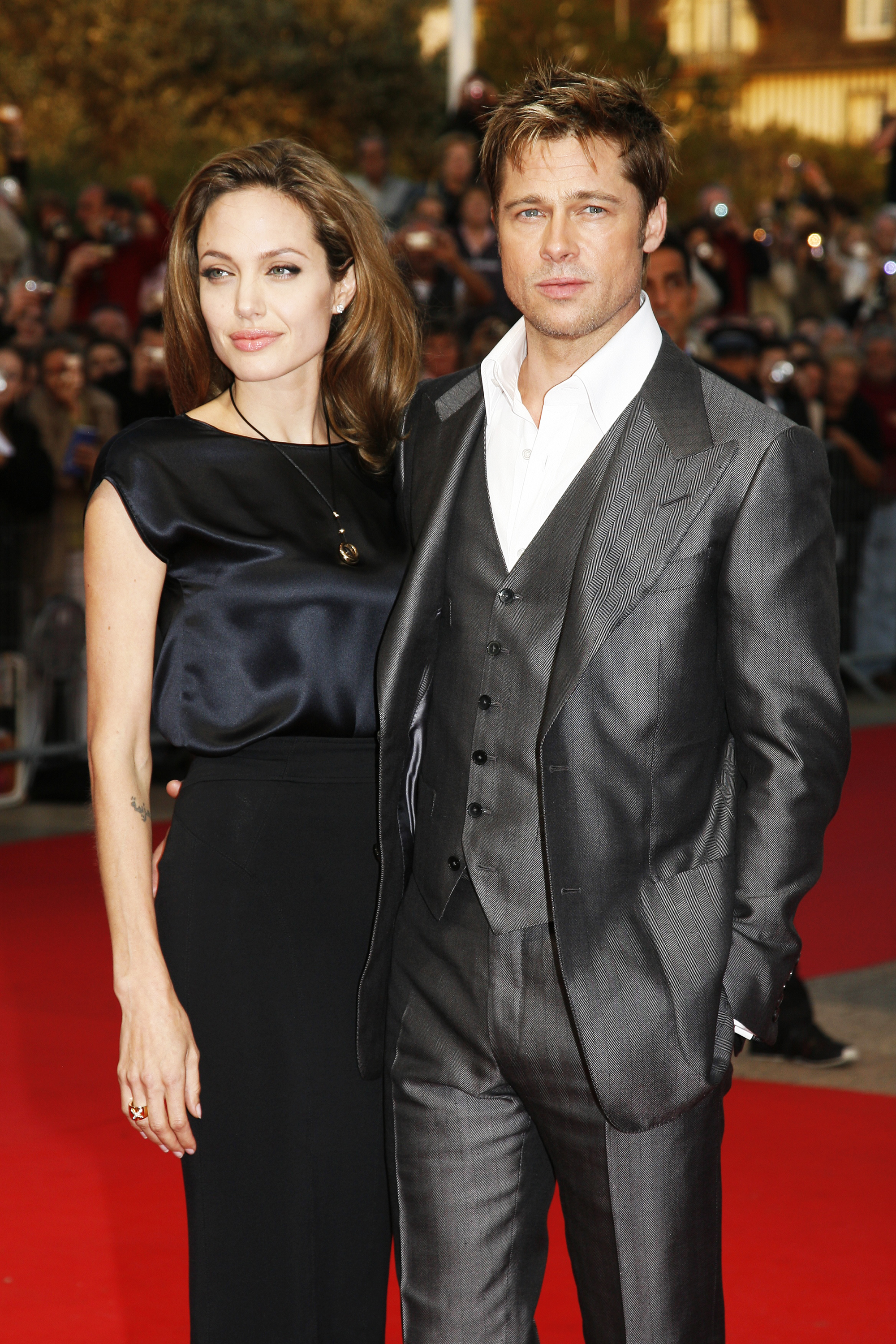 Angelina Jolie and Brad Pitt in Deauville, France on Sept. 3, 2007.