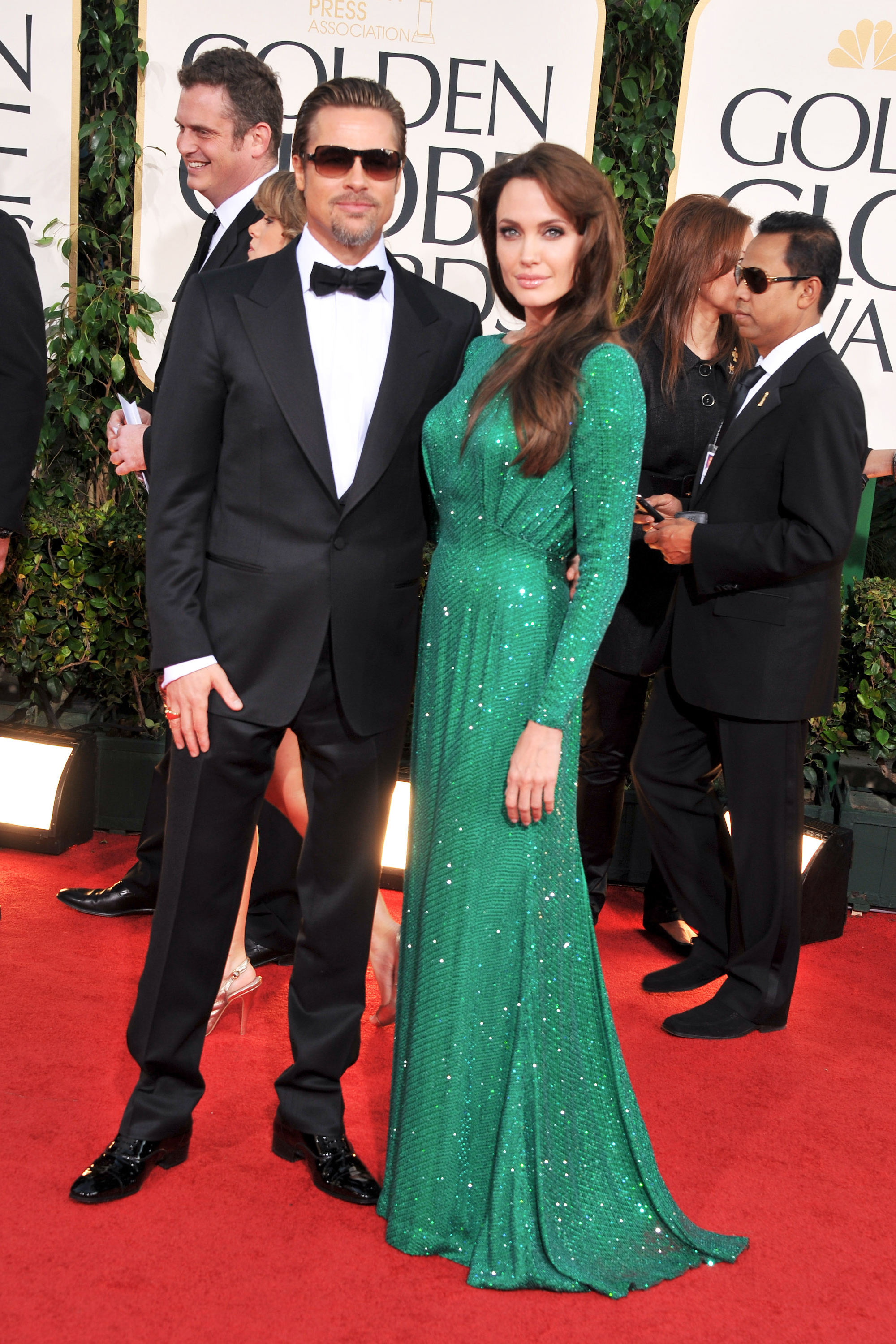 Brad Pitt and Angelina Jolie arrive at the 68th Annual Golden Globe Awards on Jan. 16, 2011 in Beverly Hills, Calif.