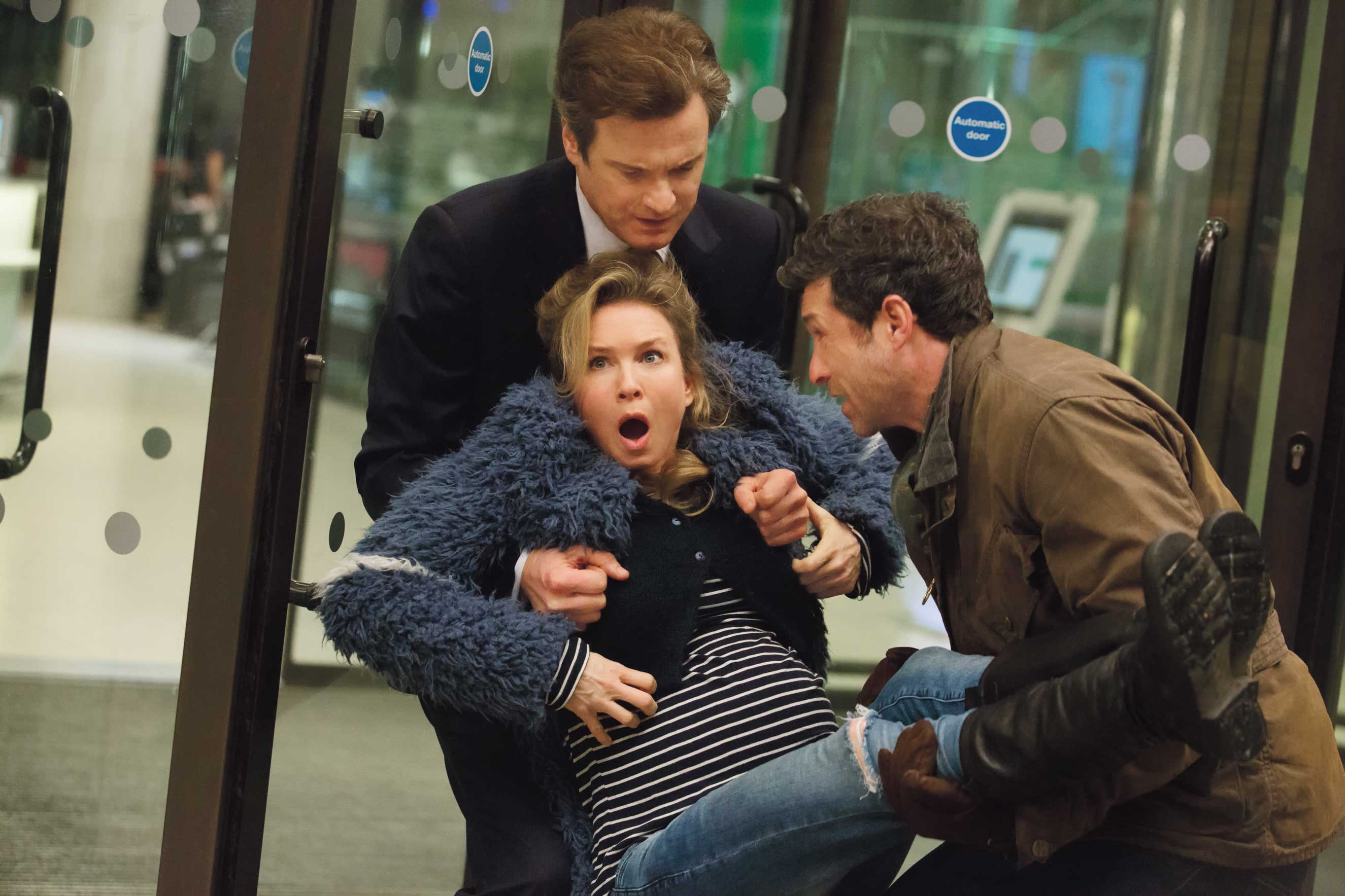 "COLIN FIRTH and RENÉE ZELLWEGER who reprise their roles in the next chapter of the world's favorite singleton are joined by PATRICK DEMPSEY in ""Bridget Jones's Baby."""