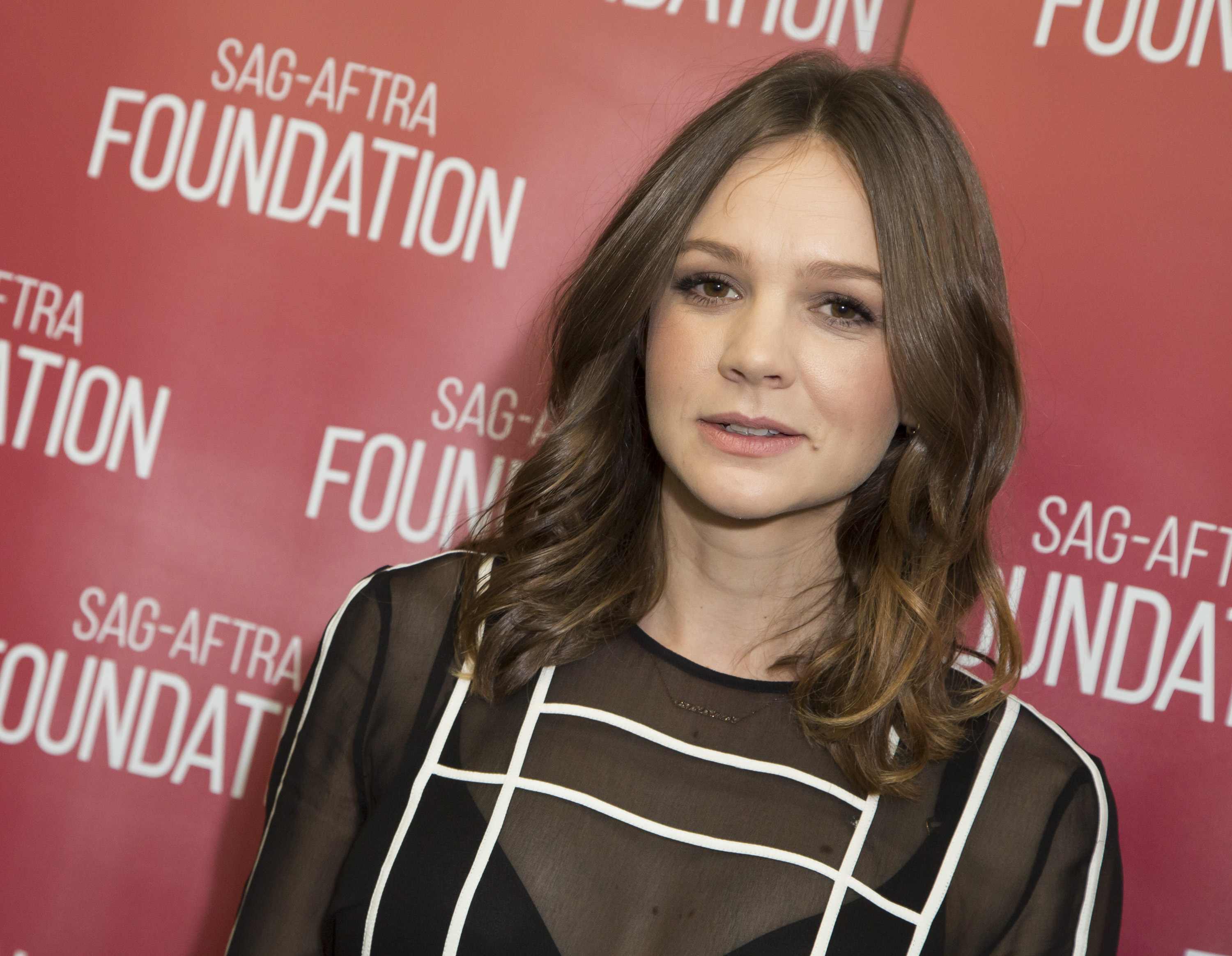 Actress Carey Mulligan attends the SAG-AFTRA Foundation conversation in Los Angeles, California.