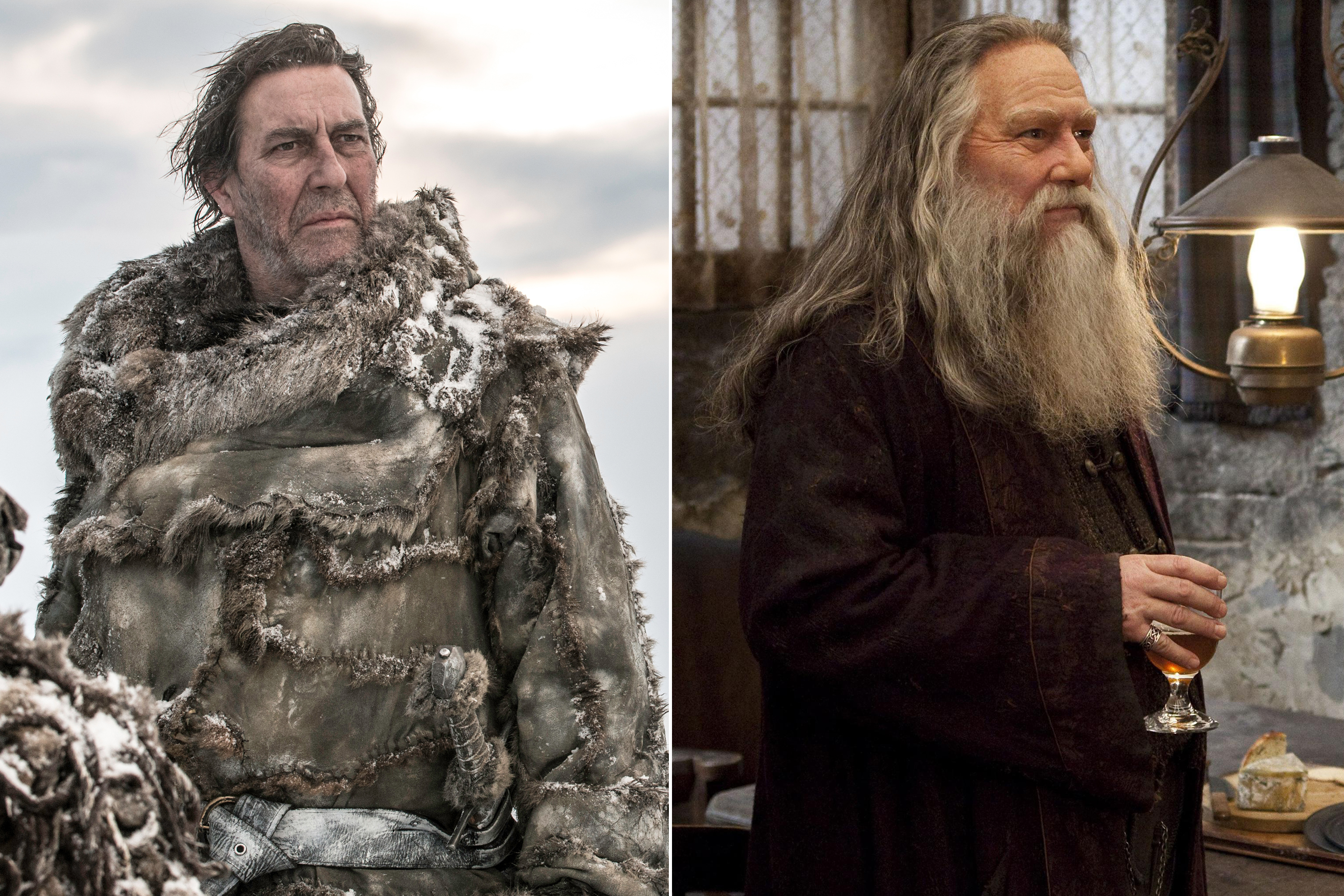 Ciarán Hinds as Mance Rayder and Aberforth Dumbledore