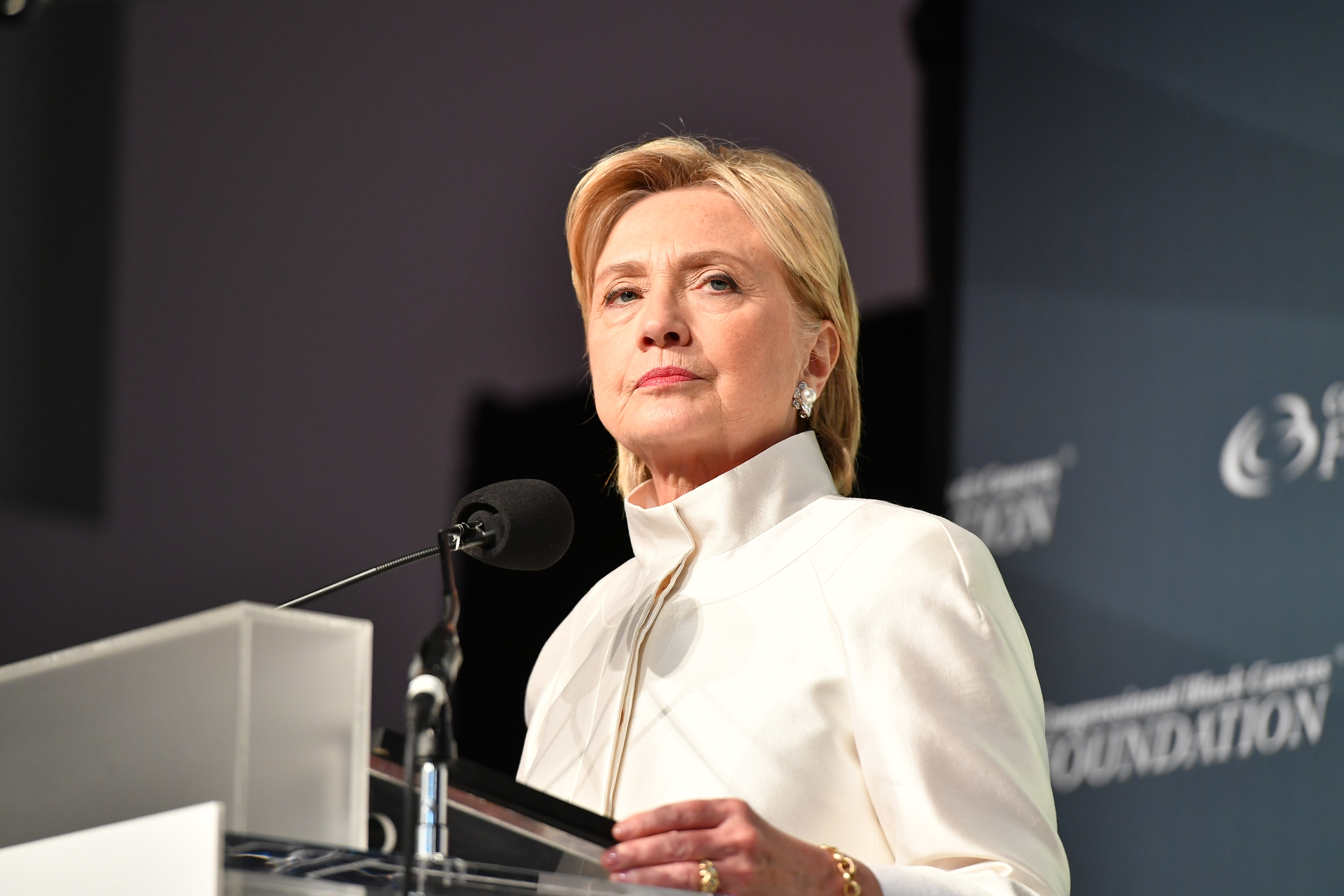 Presidential candidate Hillary Clinton speaks at the Phoenix Awards Dinner at Walter E. Washington Convention Center in Washington, D.C.,  on Sept. 17, 2016.