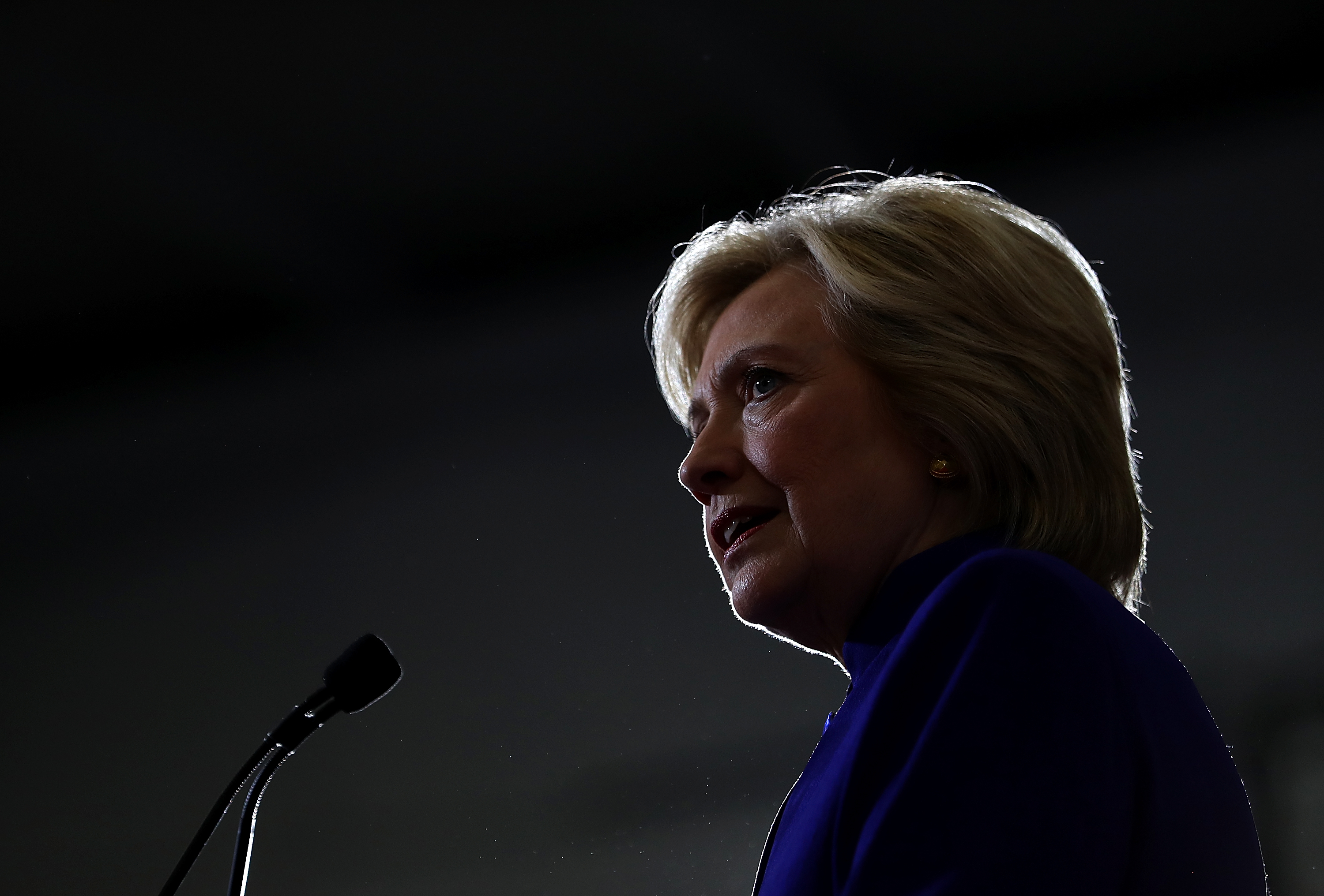 Democratic presidential nominee former Secretary of State Hillary Clinton speaks during a campaign event at Frontline Outreach and Youth Center in Orlando, Fla., on Sept. 21, 2016.