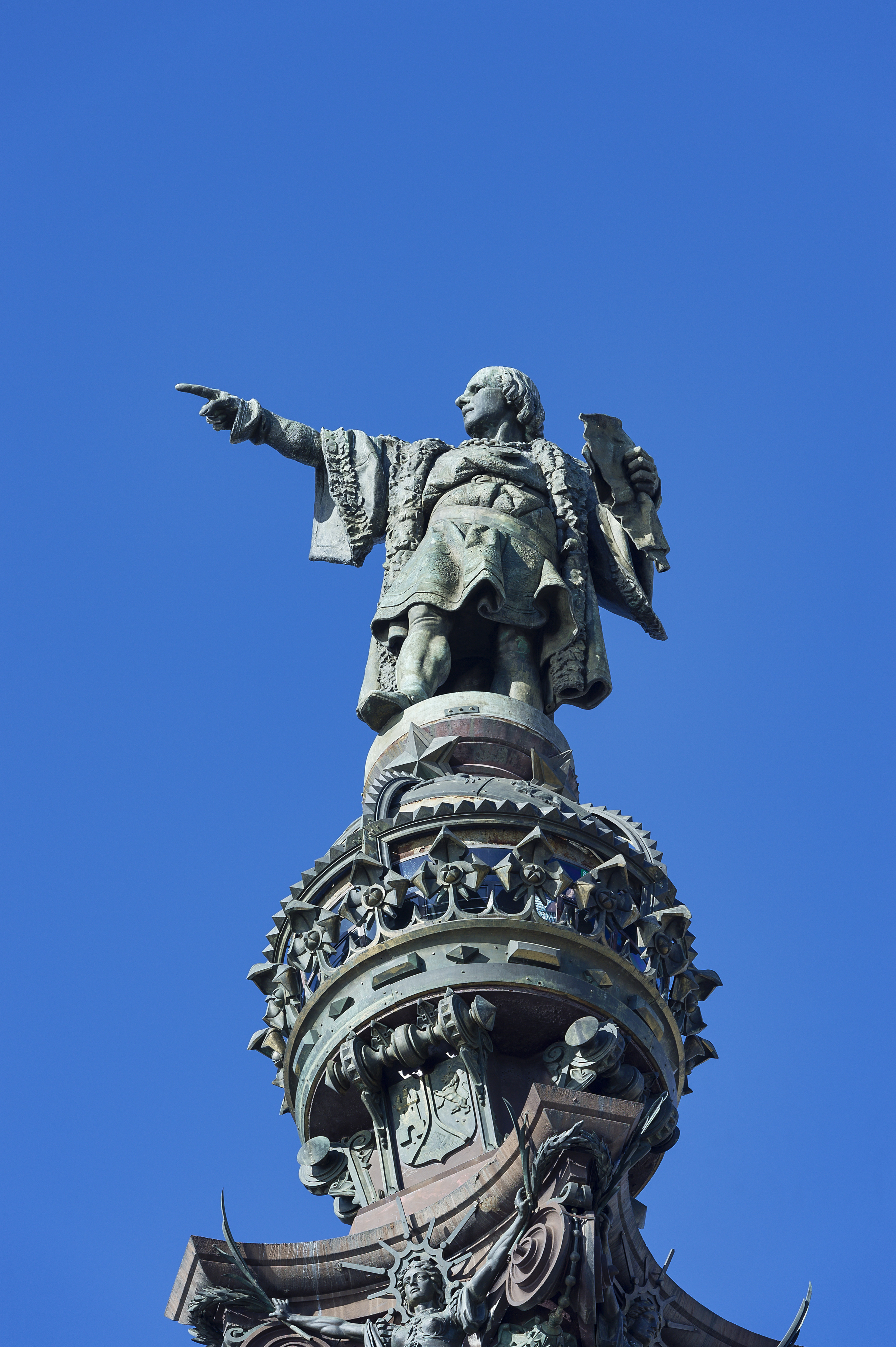 The Columbus Monument in Barcelona, Nov. 8, 2013.