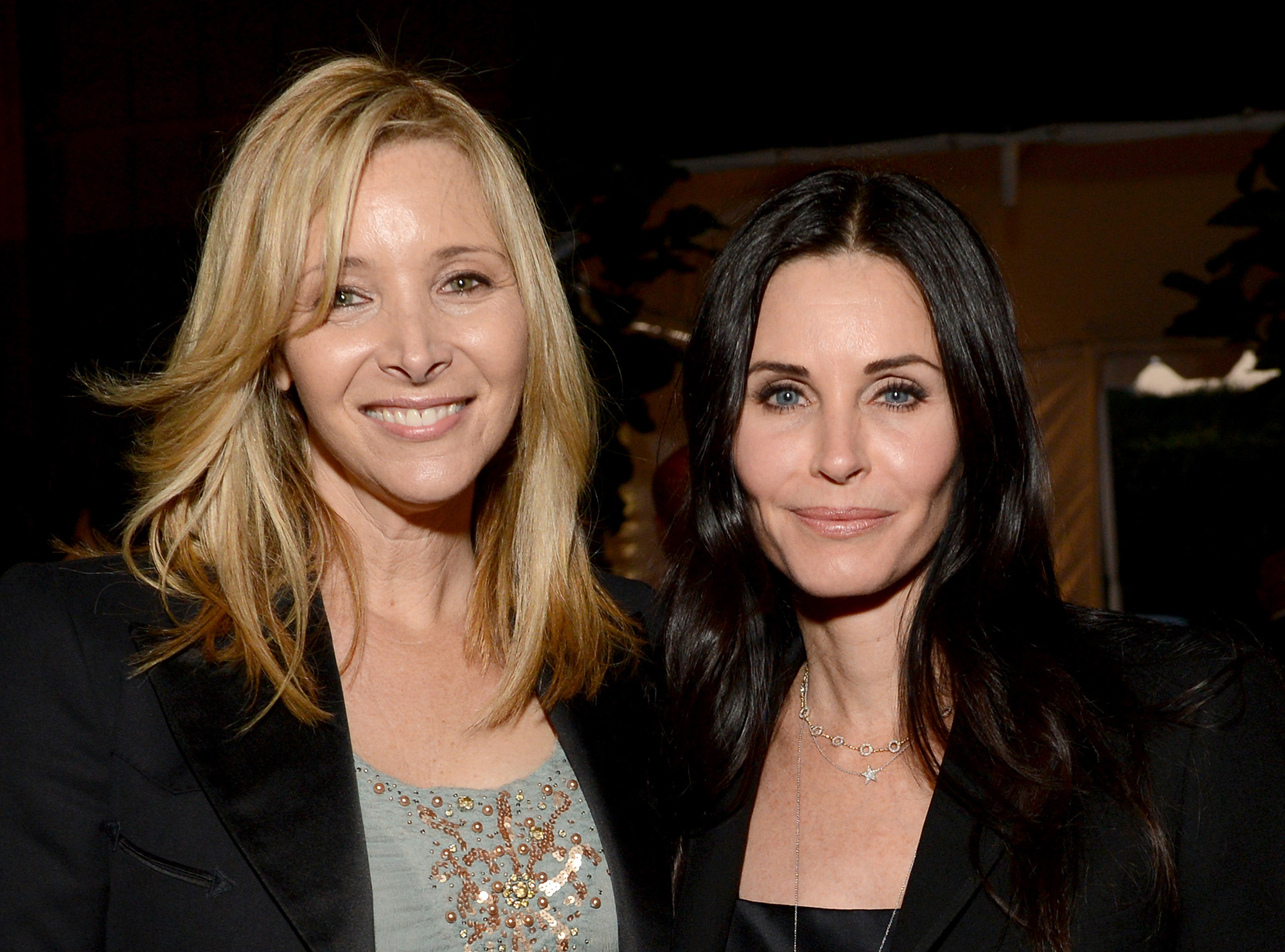 Lisa Kudrow and Courteney Cox attend LA Modernism Show on April 25, 2013 in Santa Monica, California.  (Photo by Michael Kovac/Getty Images for P.S. Arts)