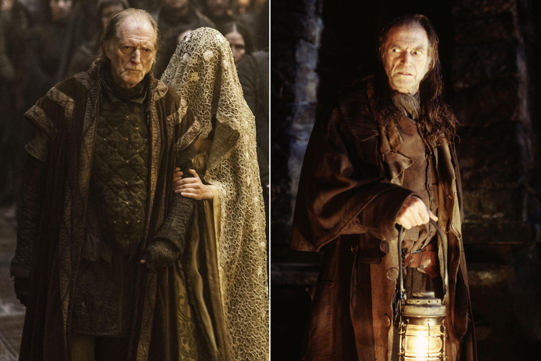 David Bradley as Walder Frey and Argus Filch