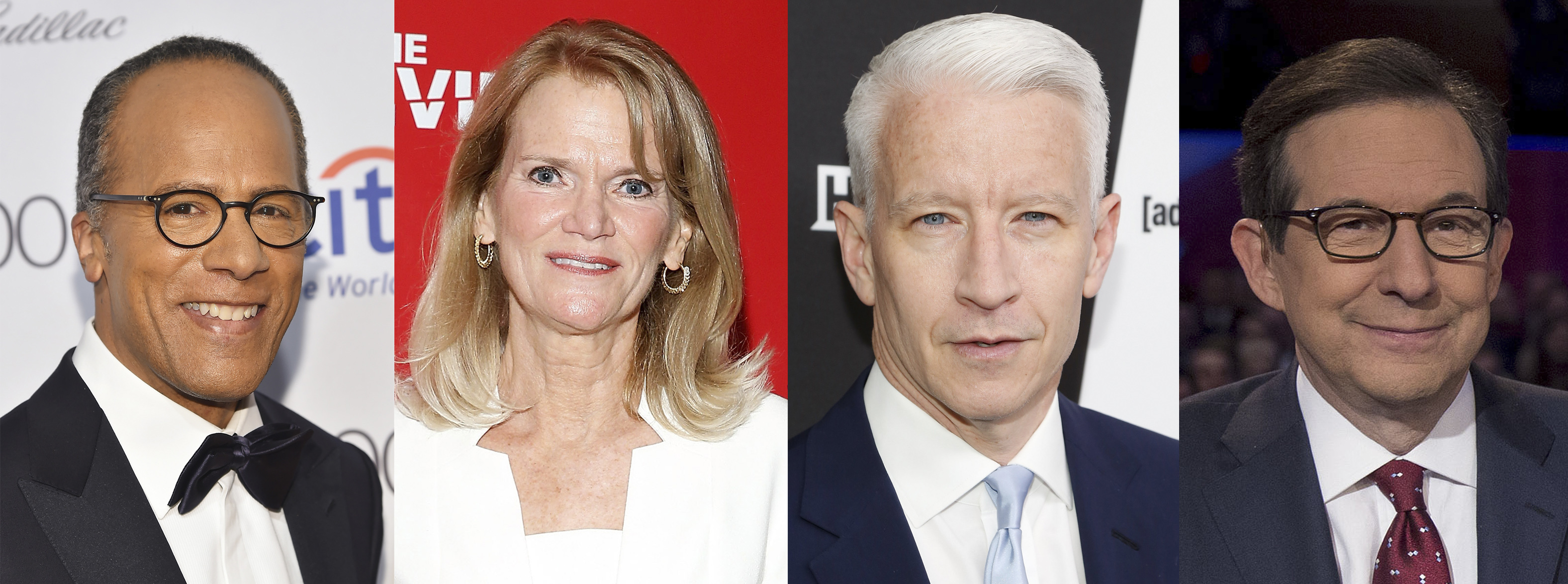 Lester Holt, Martha Raddatz, Anderson Cooper, and Chris Wallace.