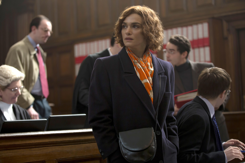 Rachel Weisz as writer and historian Deborah E. Lipstadt in Denial.