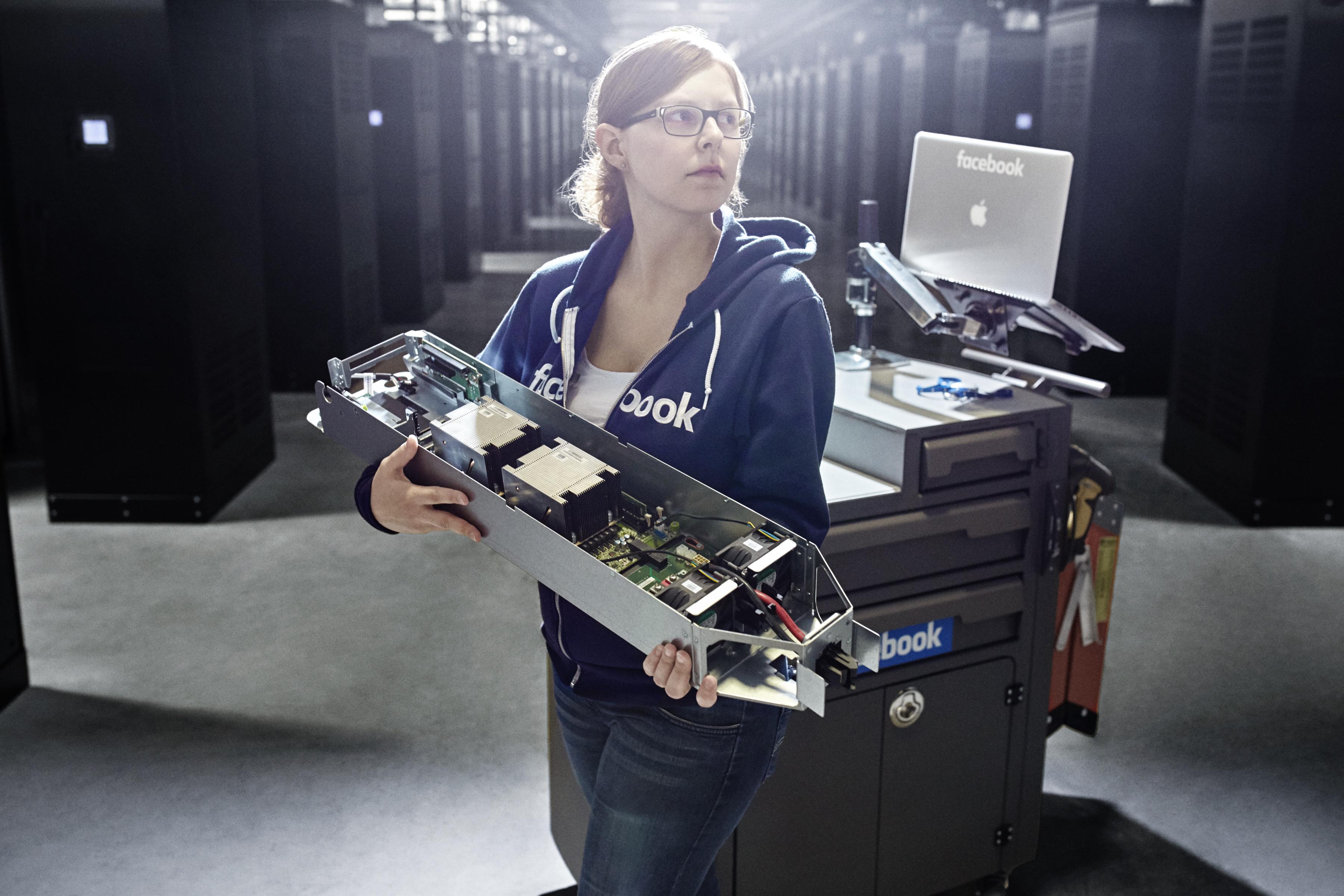 Emilie De Clercq, data center technician.