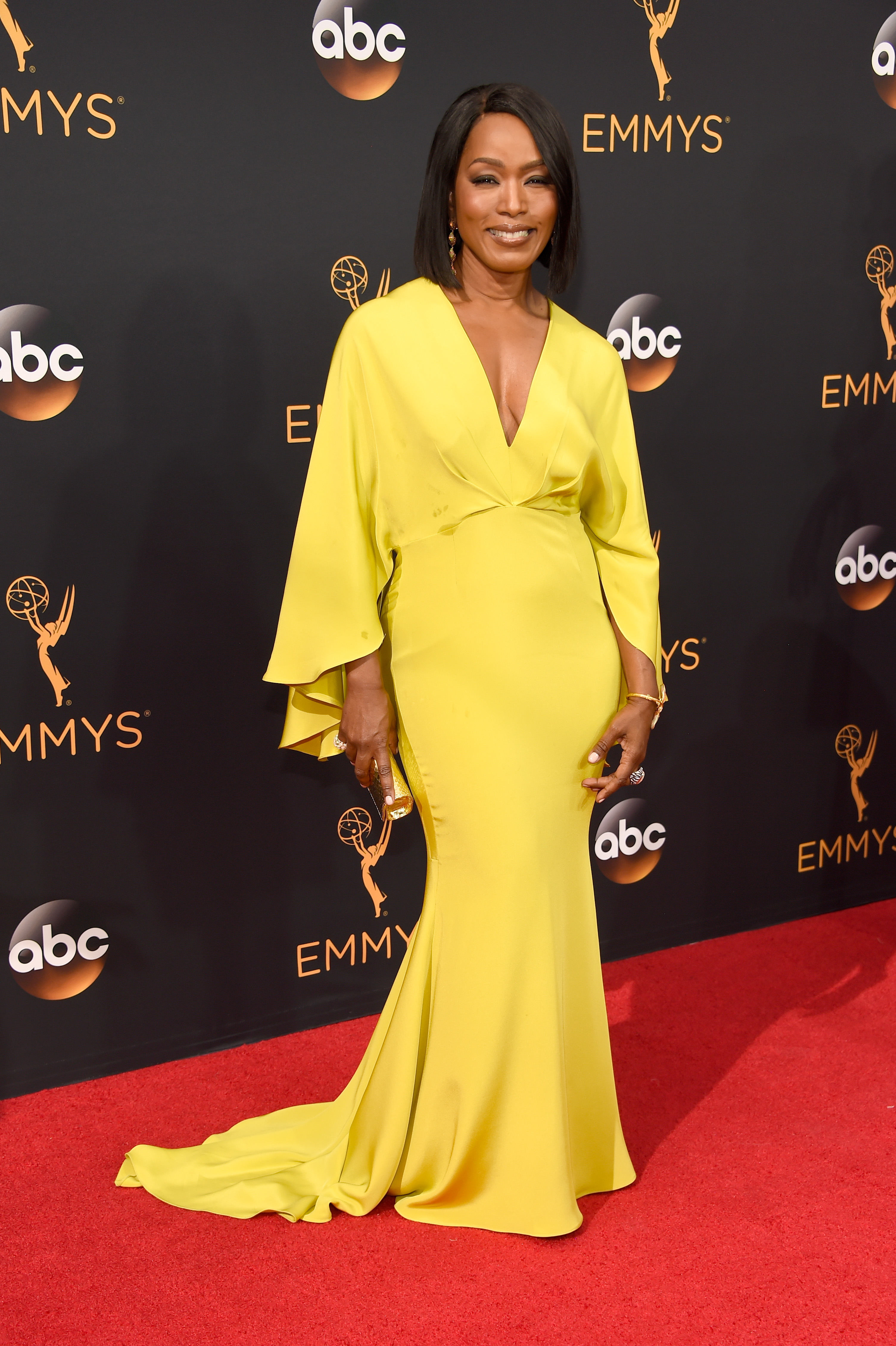 Angela Bassett arrives at the 68th Annual Primetime Emmy Awards at Microsoft Theater on Sept. 18, 2016 in Los Angeles.