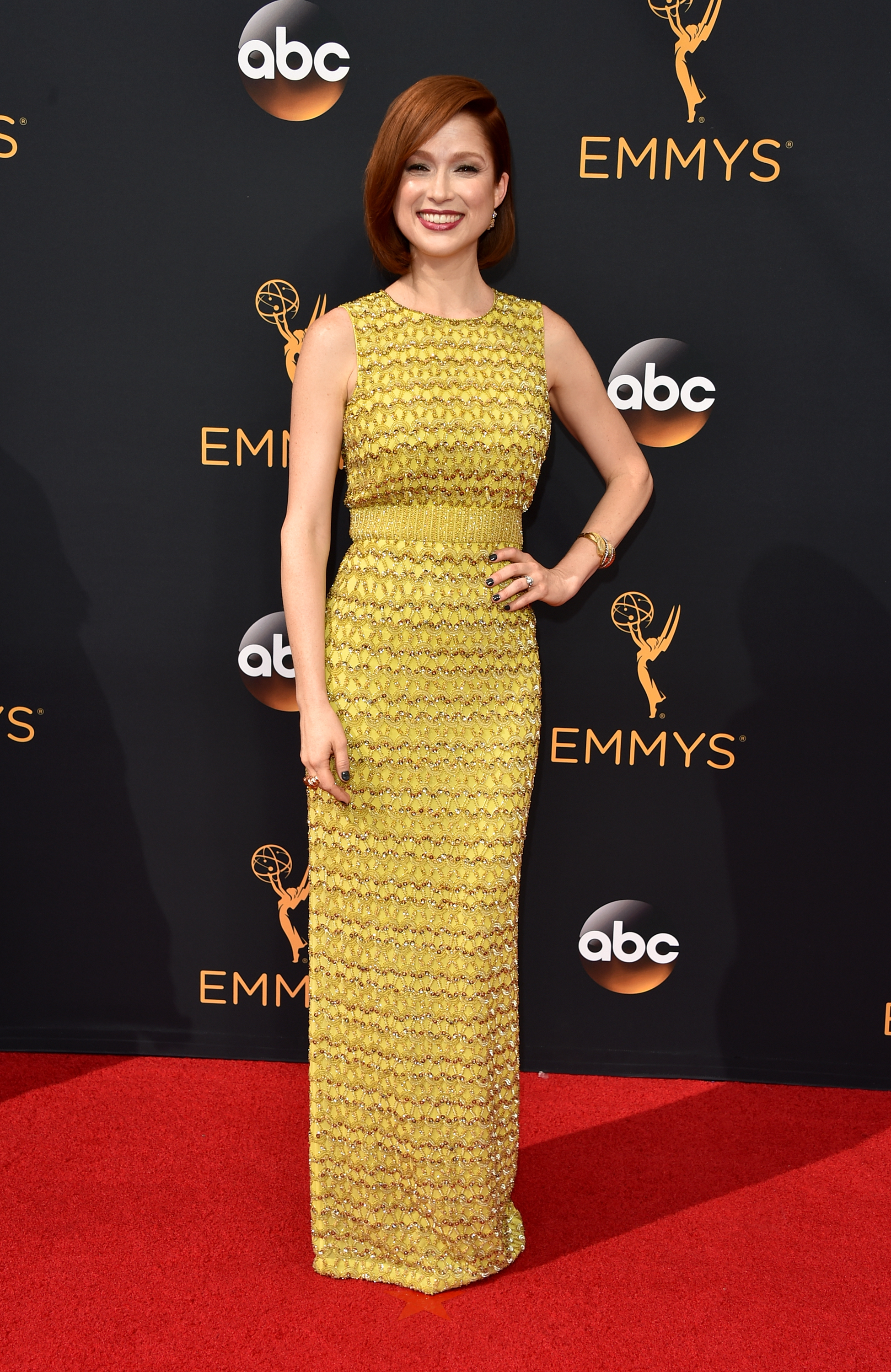 Ellie Kemper arrives at the 68th Annual Primetime Emmy Awards at Microsoft Theater on Sept. 18, 2016 in Los Angeles.