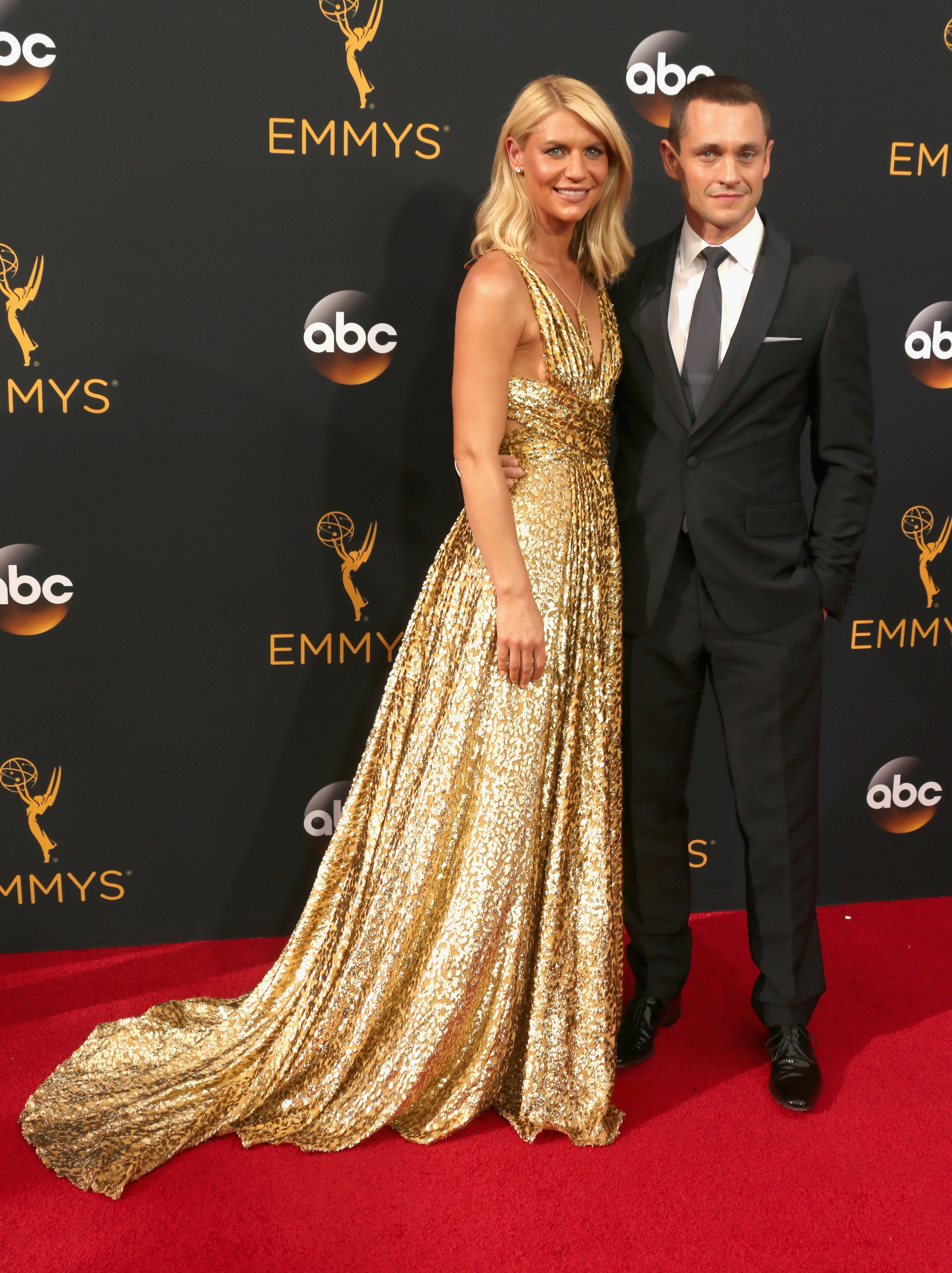 Claire Danes and Hugh Dancy arrive at the 68th Annual Primetime Emmy Awards at Microsoft Theater on Sept. 18, 2016 in Los Angeles.
