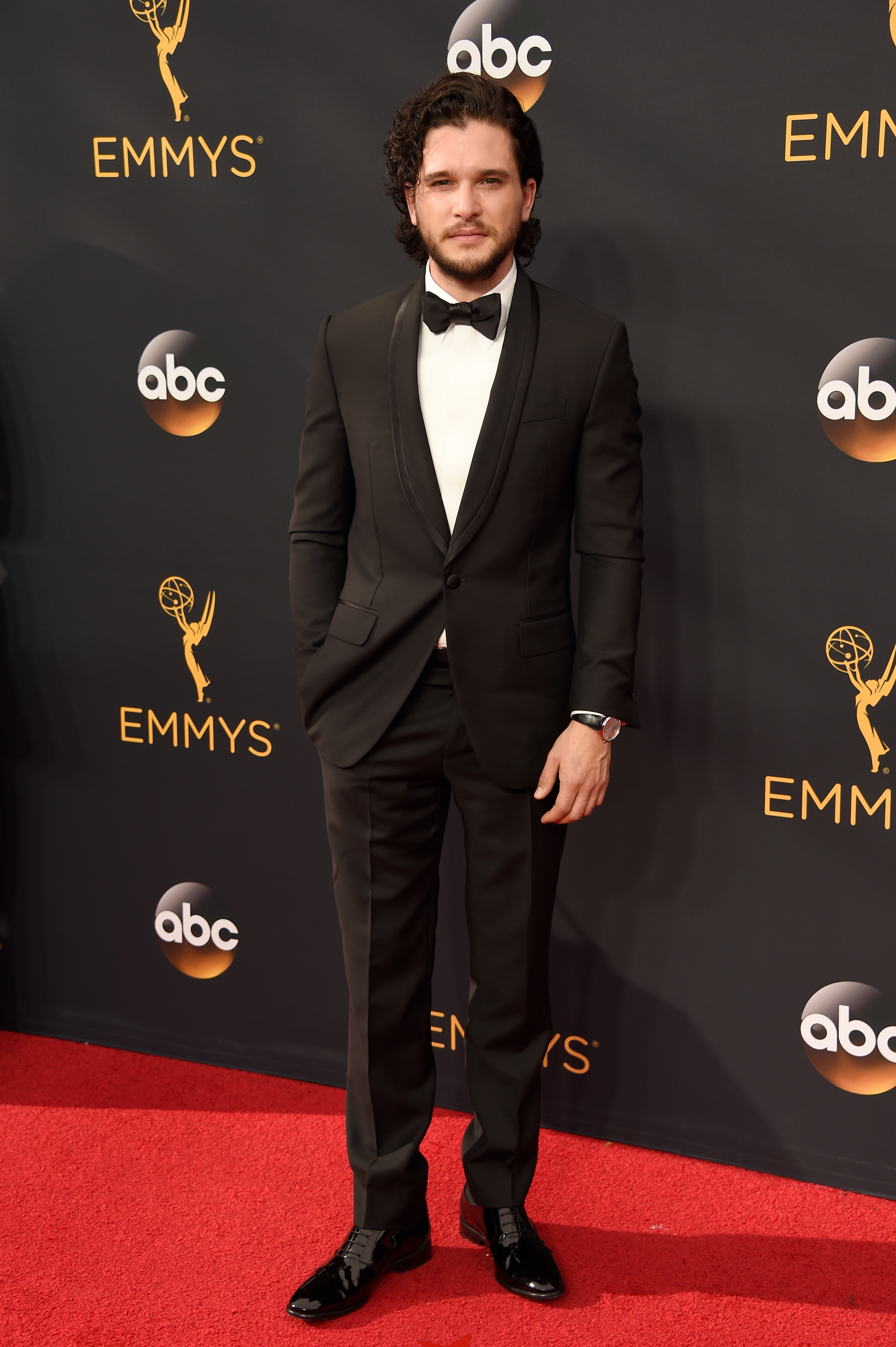 Kit Harrington arrives at the 68th Annual Primetime Emmy Awards at Microsoft Theater on Sept. 18, 2016 in Los Angeles.