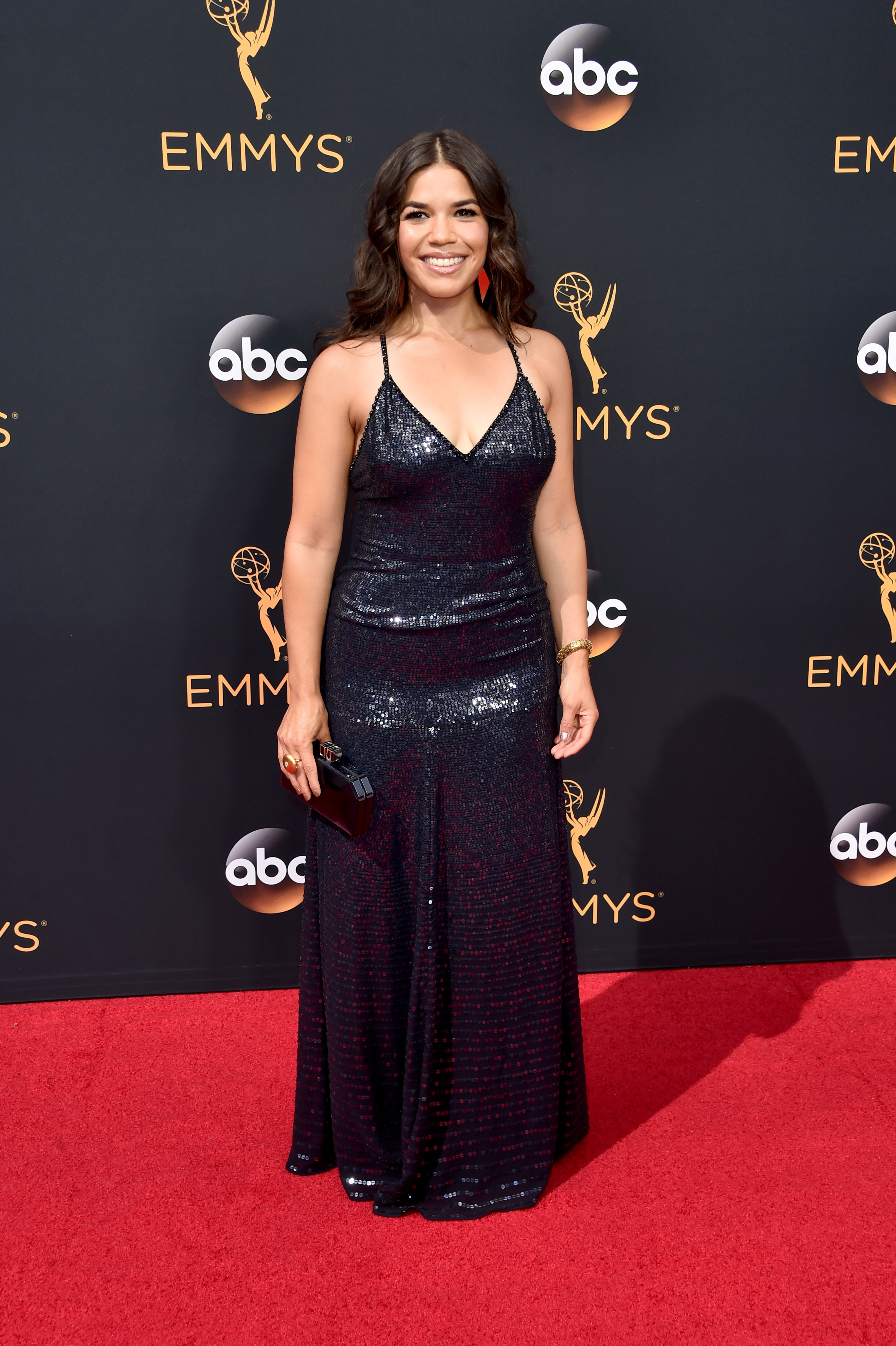 America Ferrara arrives at the 68th Annual Primetime Emmy Awards at Microsoft Theater on Sept. 18, 2016 in Los Angeles.