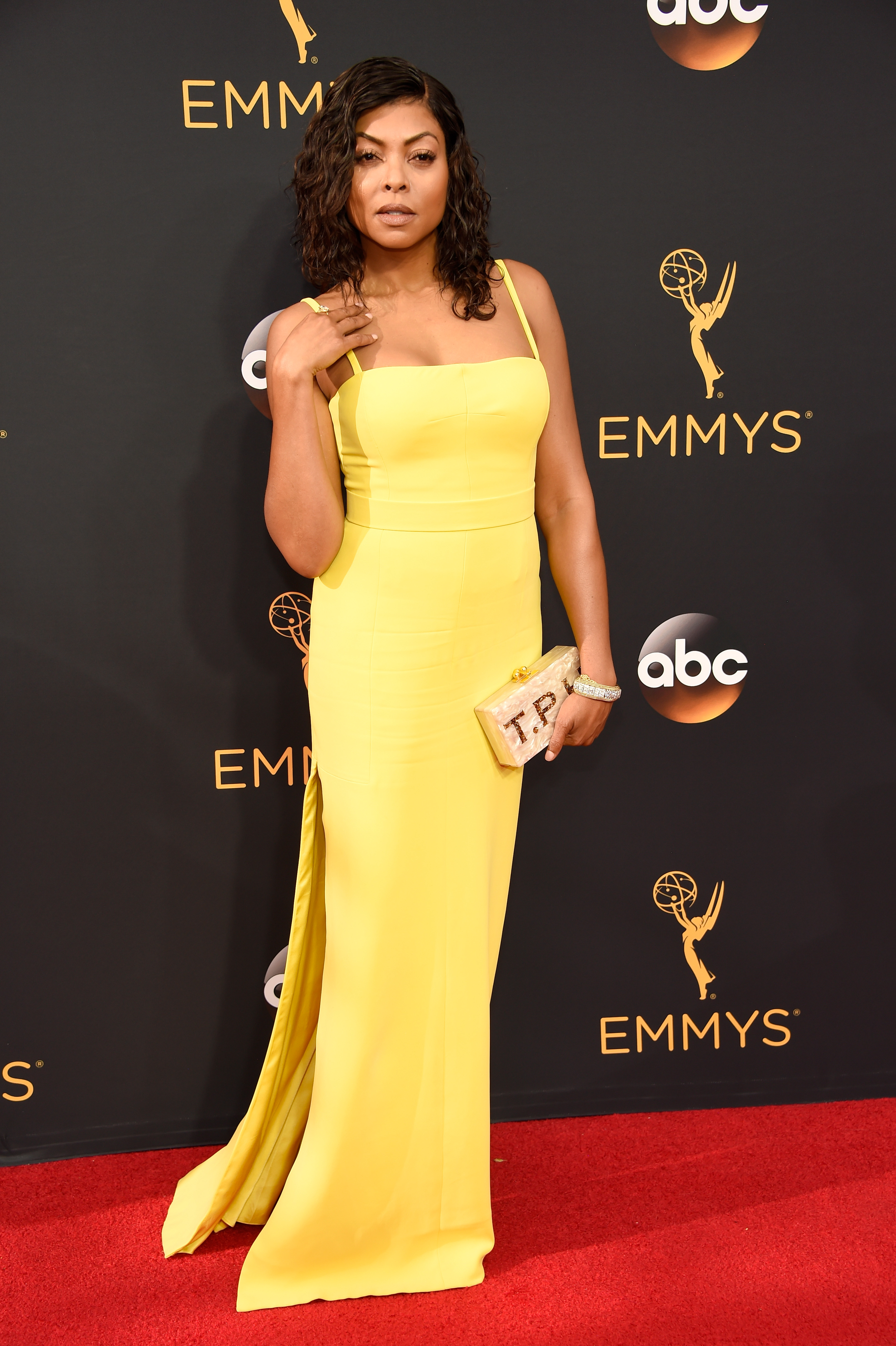 Taraji P. Henson arrives at the 68th Annual Primetime Emmy Awards at Microsoft Theater on Sept. 18, 2016 in Los Angeles.