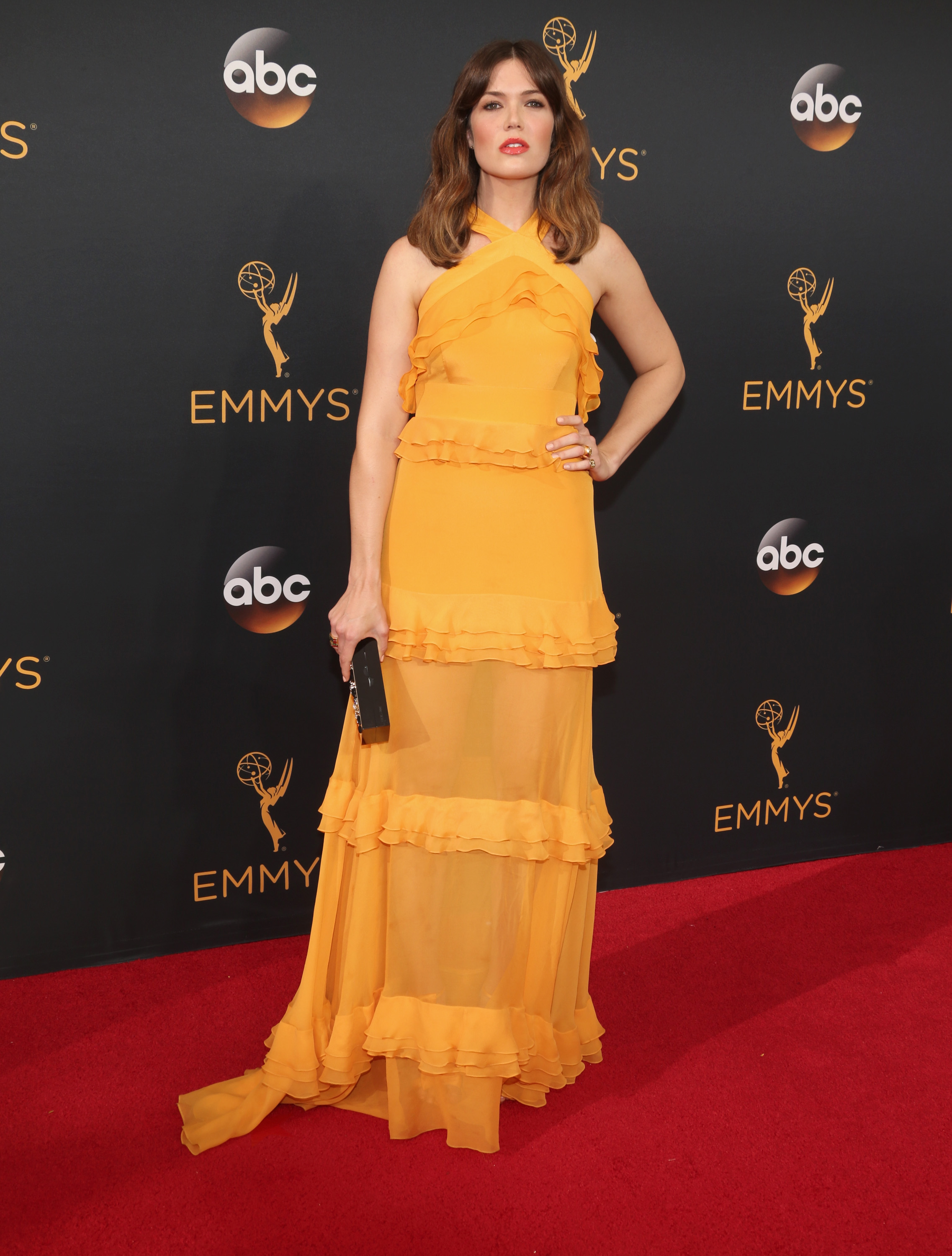 Mandy Moore arrives at the 68th Annual Primetime Emmy Awards at Microsoft Theater on Sept. 18, 2016 in Los Angeles.