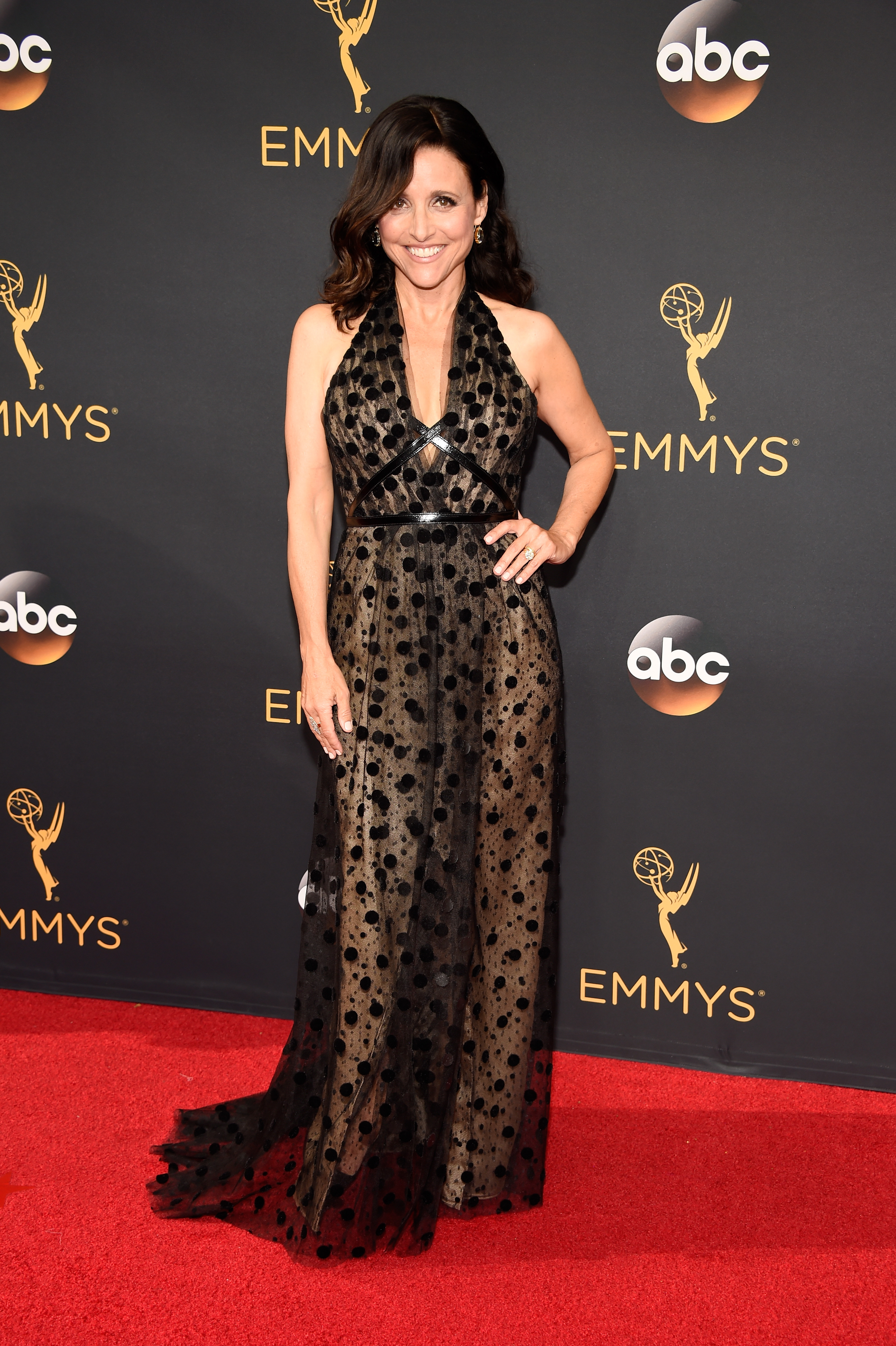 Julia Louis-Dreyfus arrives at the 68th Annual Primetime Emmy Awards at Microsoft Theater on Sept. 18, 2016 in Los Angeles.