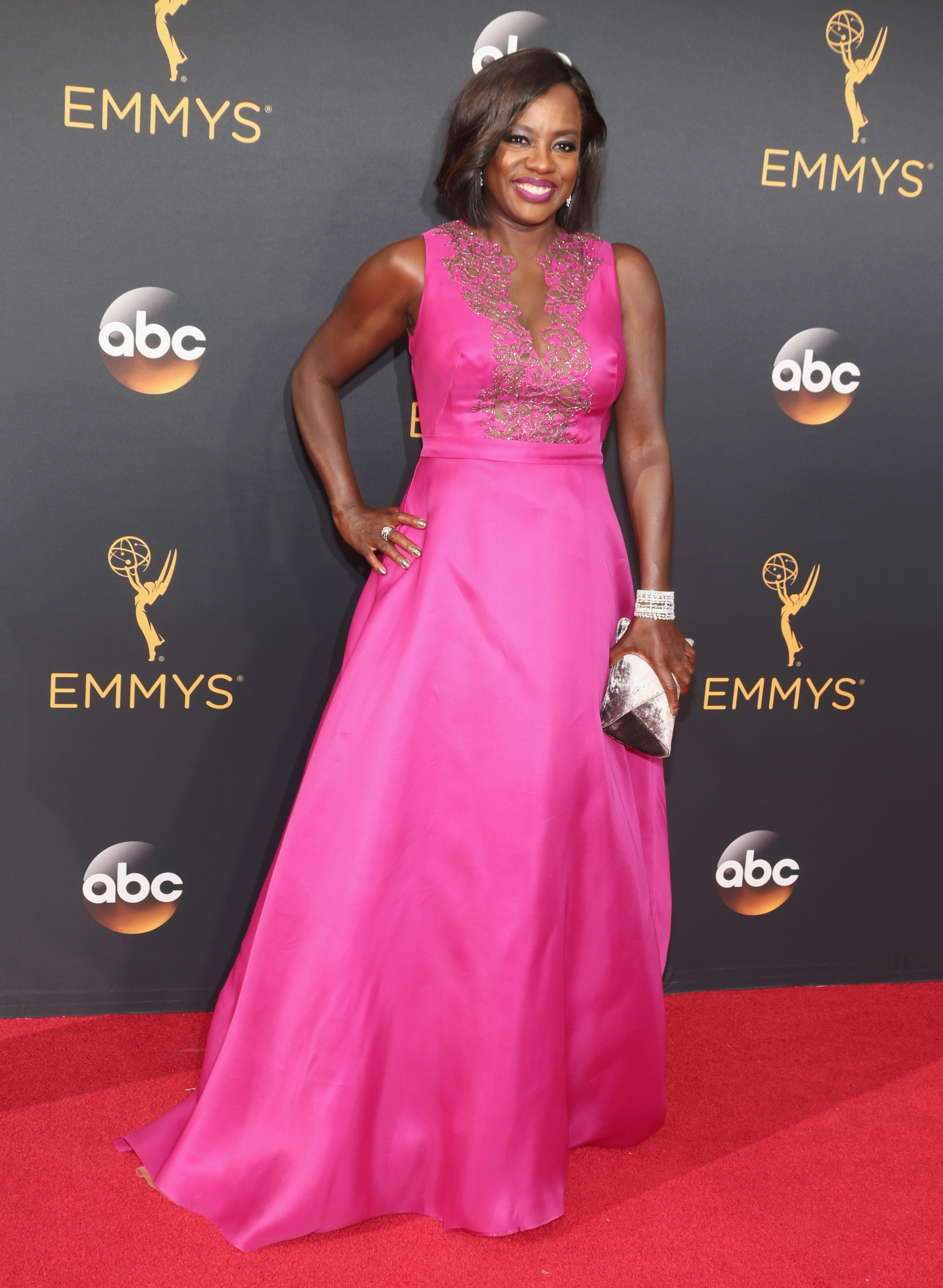 Viola Davis arrives at the 68th Annual Primetime Emmy Awards at Microsoft Theater on Sept. 18, 2016 in Los Angeles.
