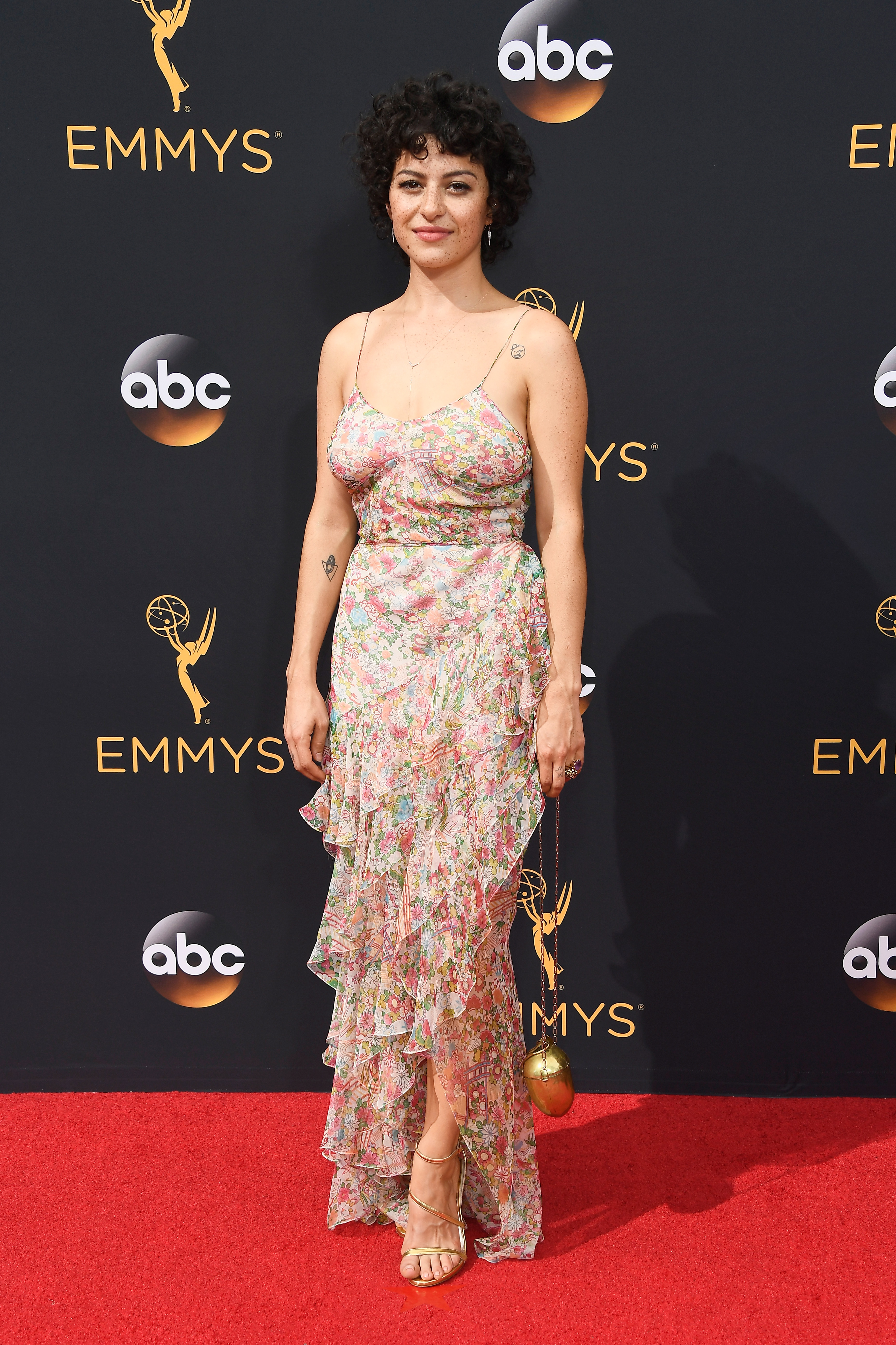 Alia Shawkat arrives at the 68th Annual Primetime Emmy Awards at Microsoft Theater on Sept. 18, 2016 in Los Angeles.
